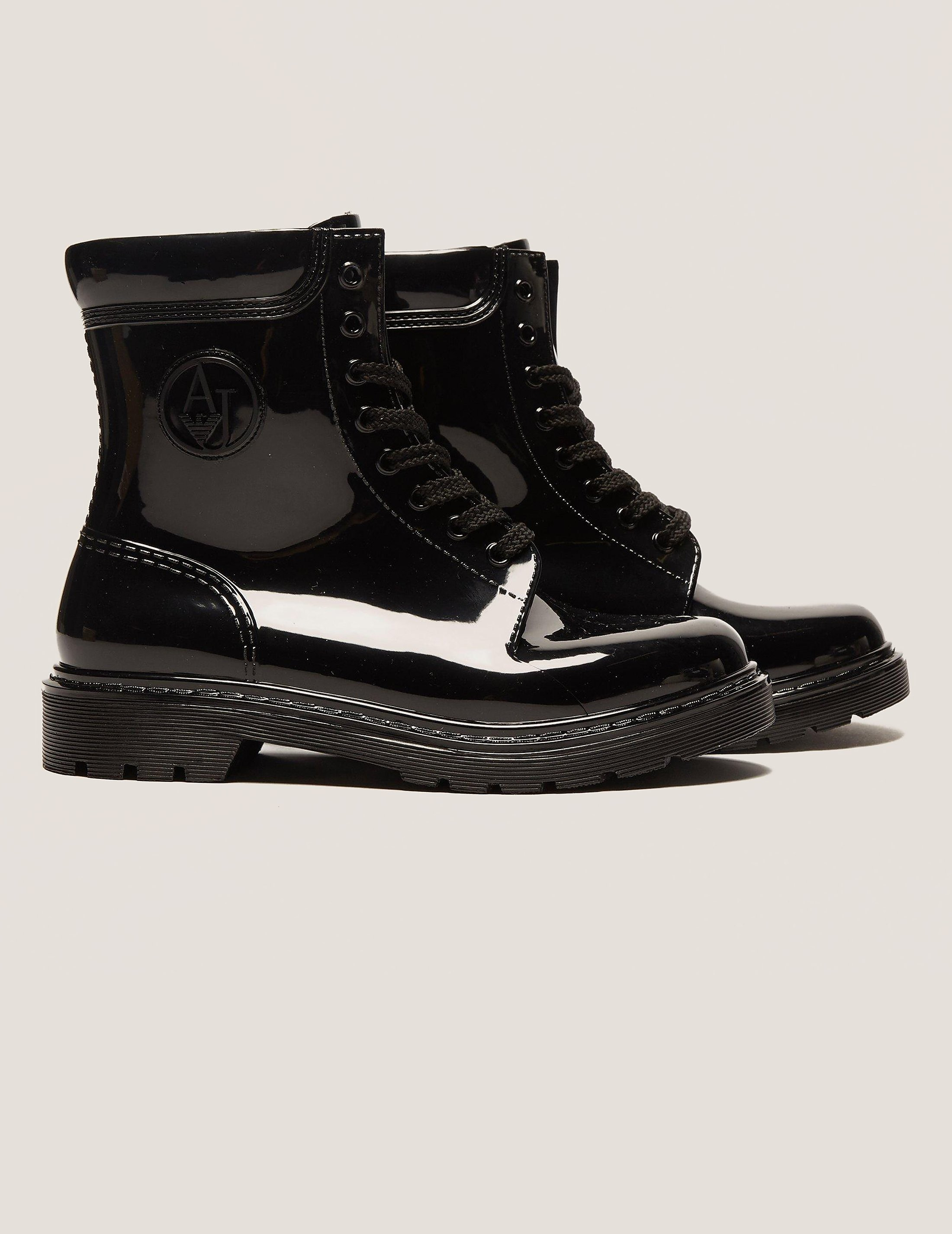 Armani Jeans PVC AJ Lace Up Boot