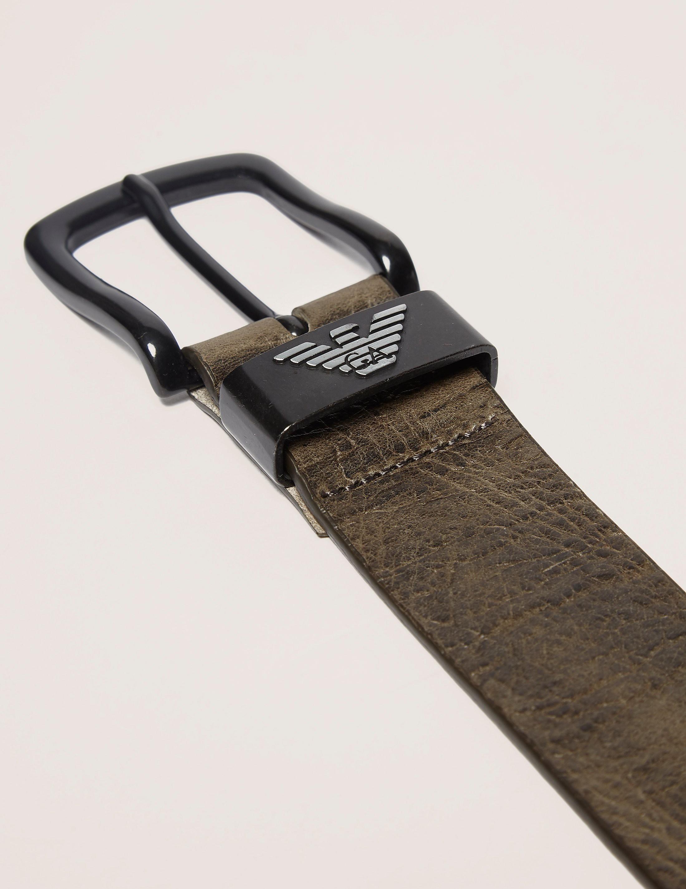 Armani Jeans Eagle Leather Belt