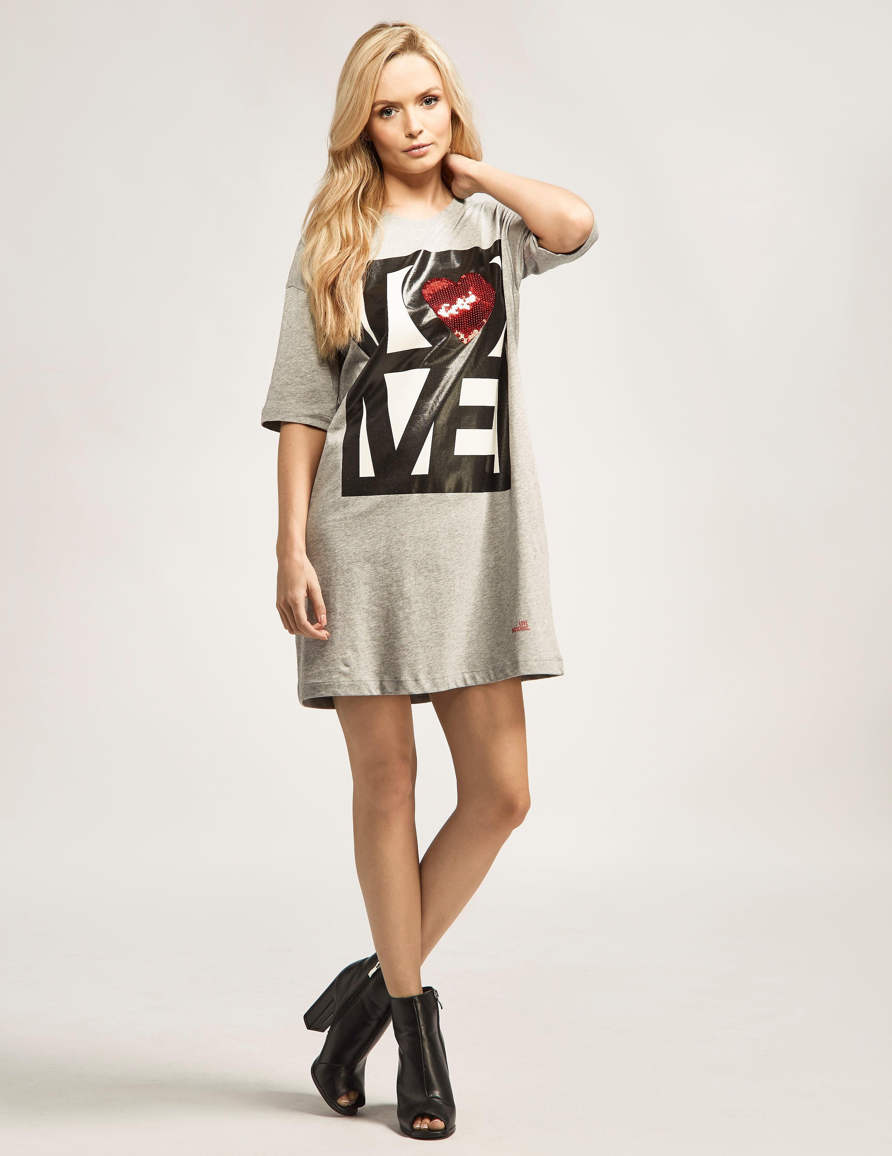 Love Moschino Long Love Sequin Dress