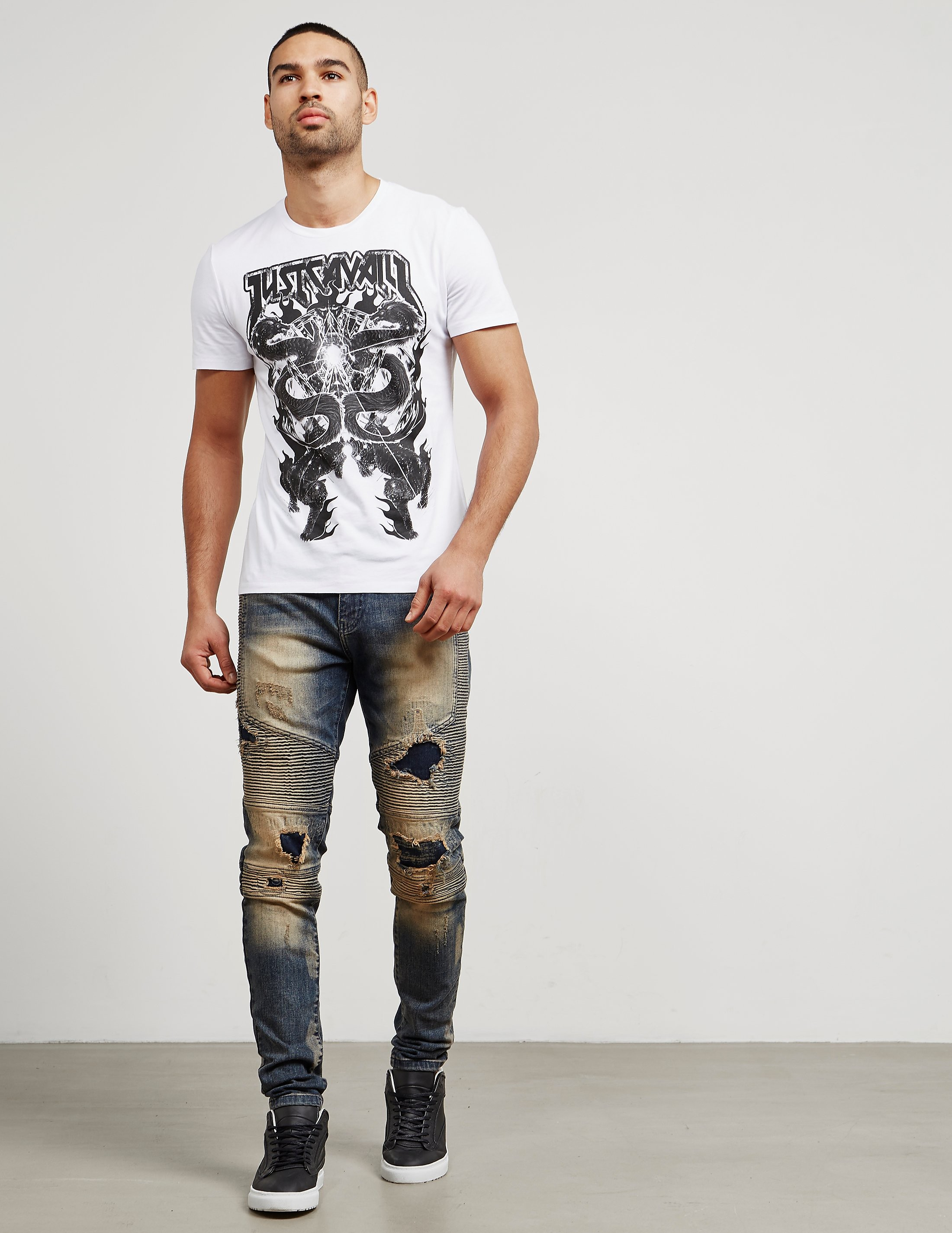 Just Cavalli Double Dragon Short Sleeve T-Shirt