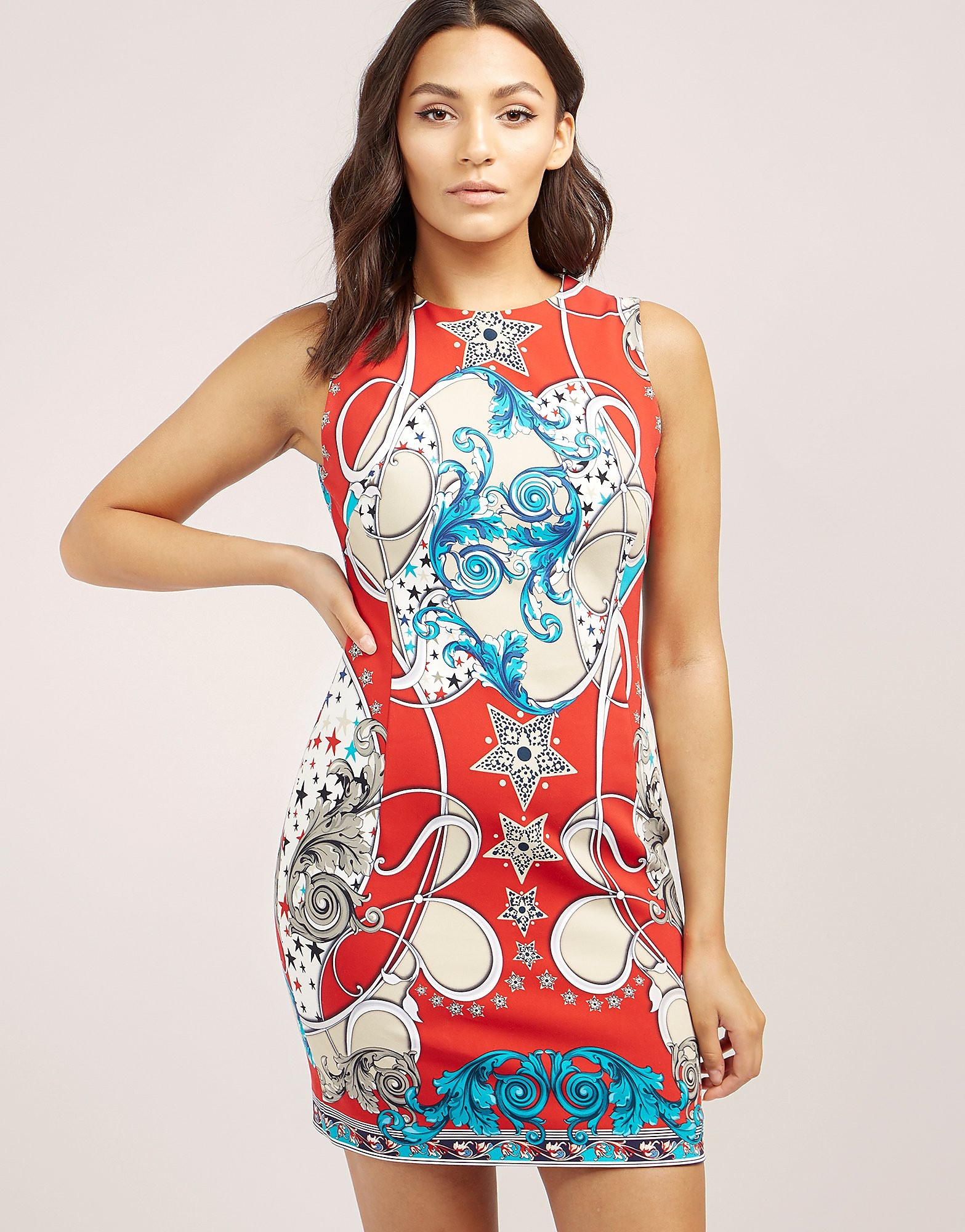 Versace Baroque Star Bodycon Dress