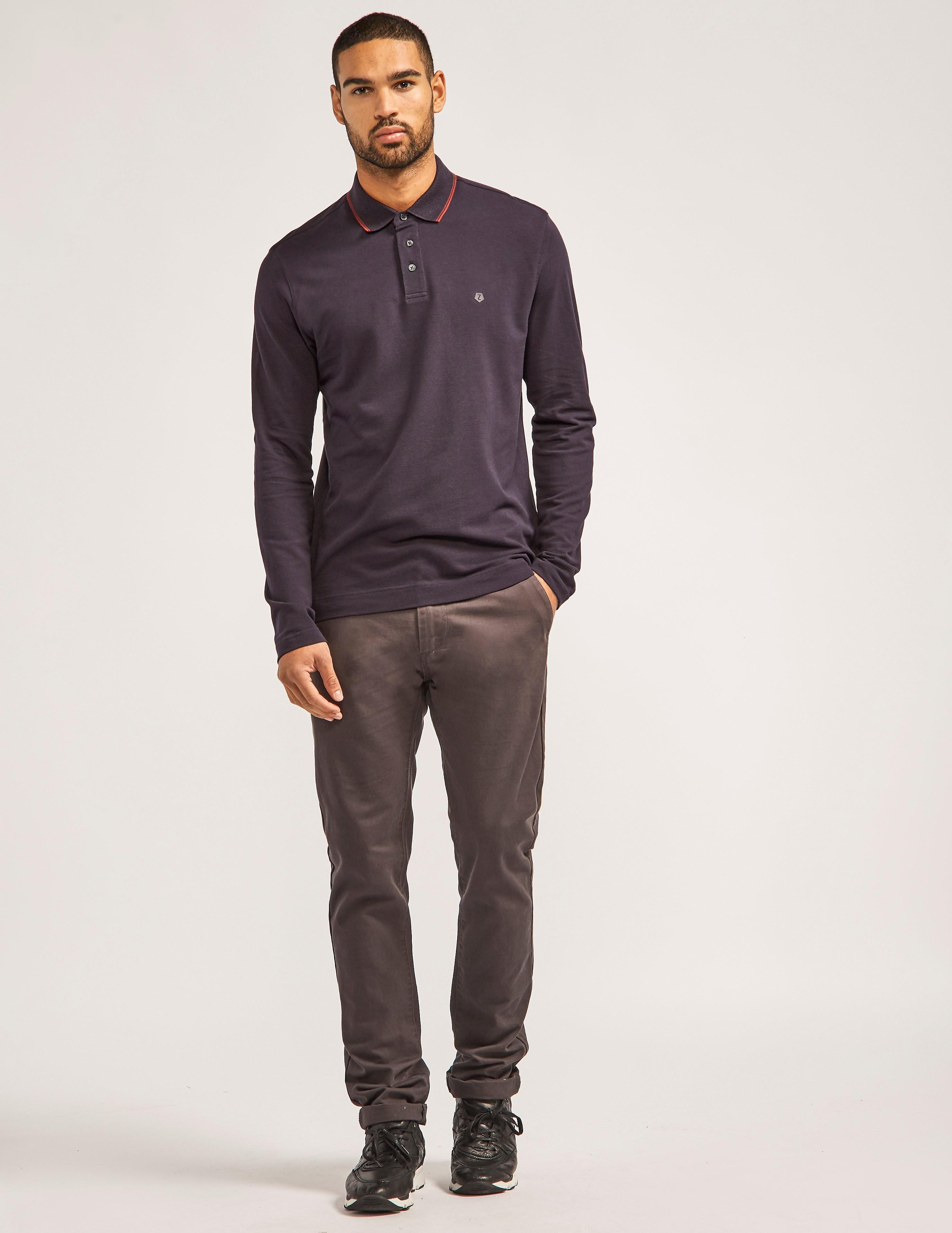 Z Zegna Long Sleeve Polo Shirt