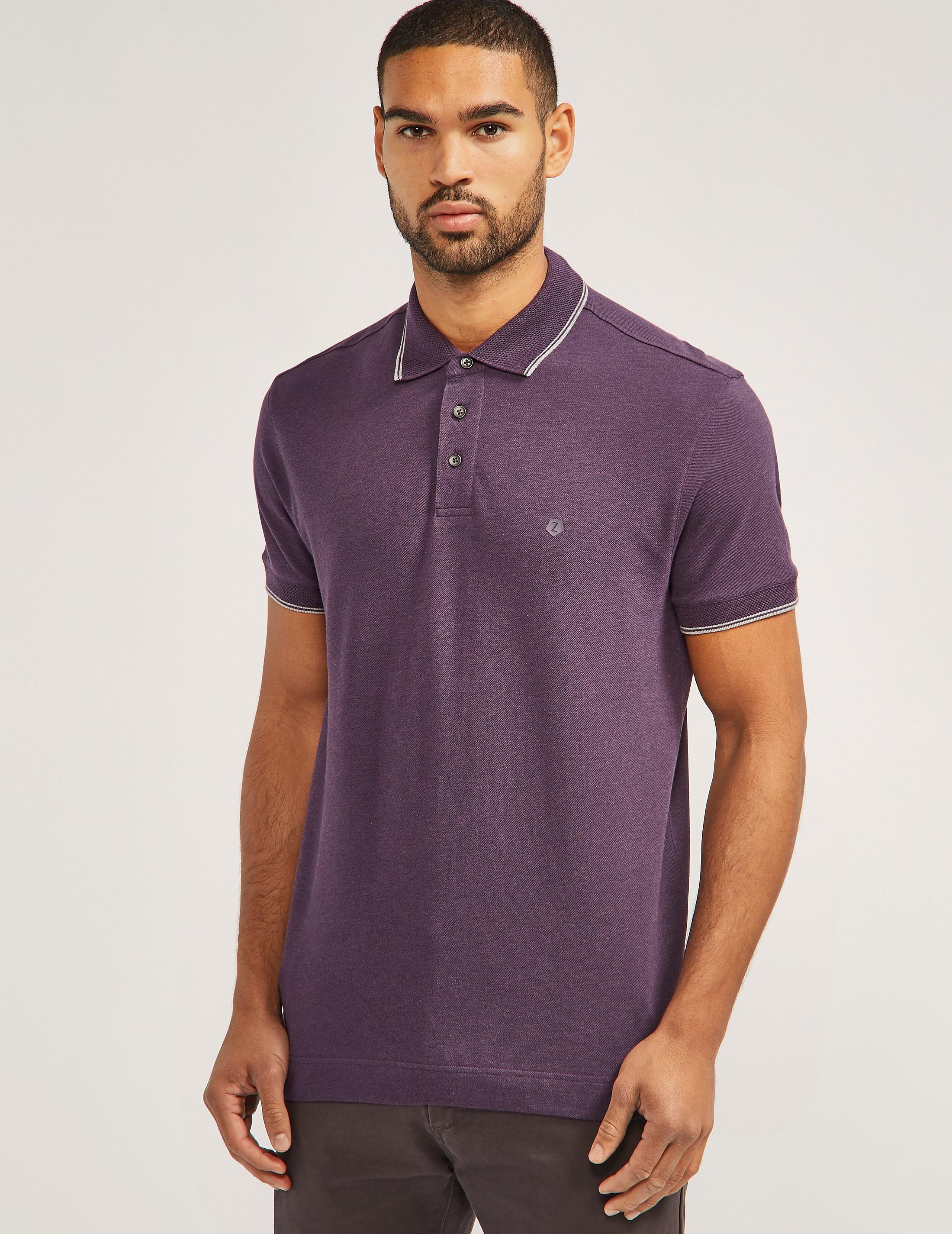 Z Zegna Short Sleeve Polo Shirt