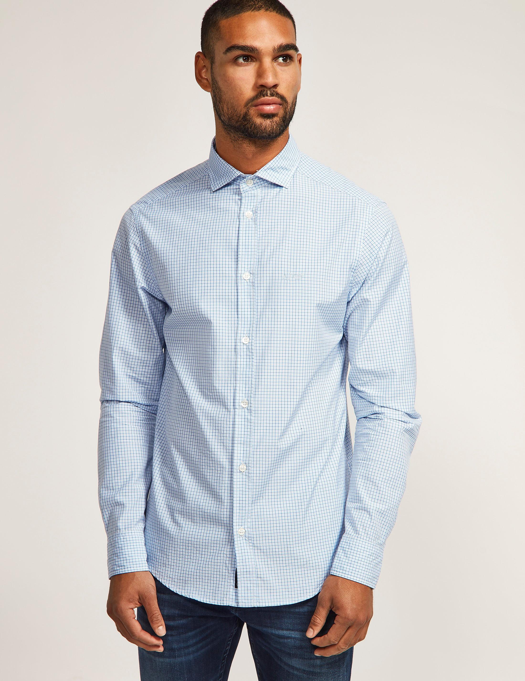 Armani Jeans Custom Fit Long Sleeve Shirt