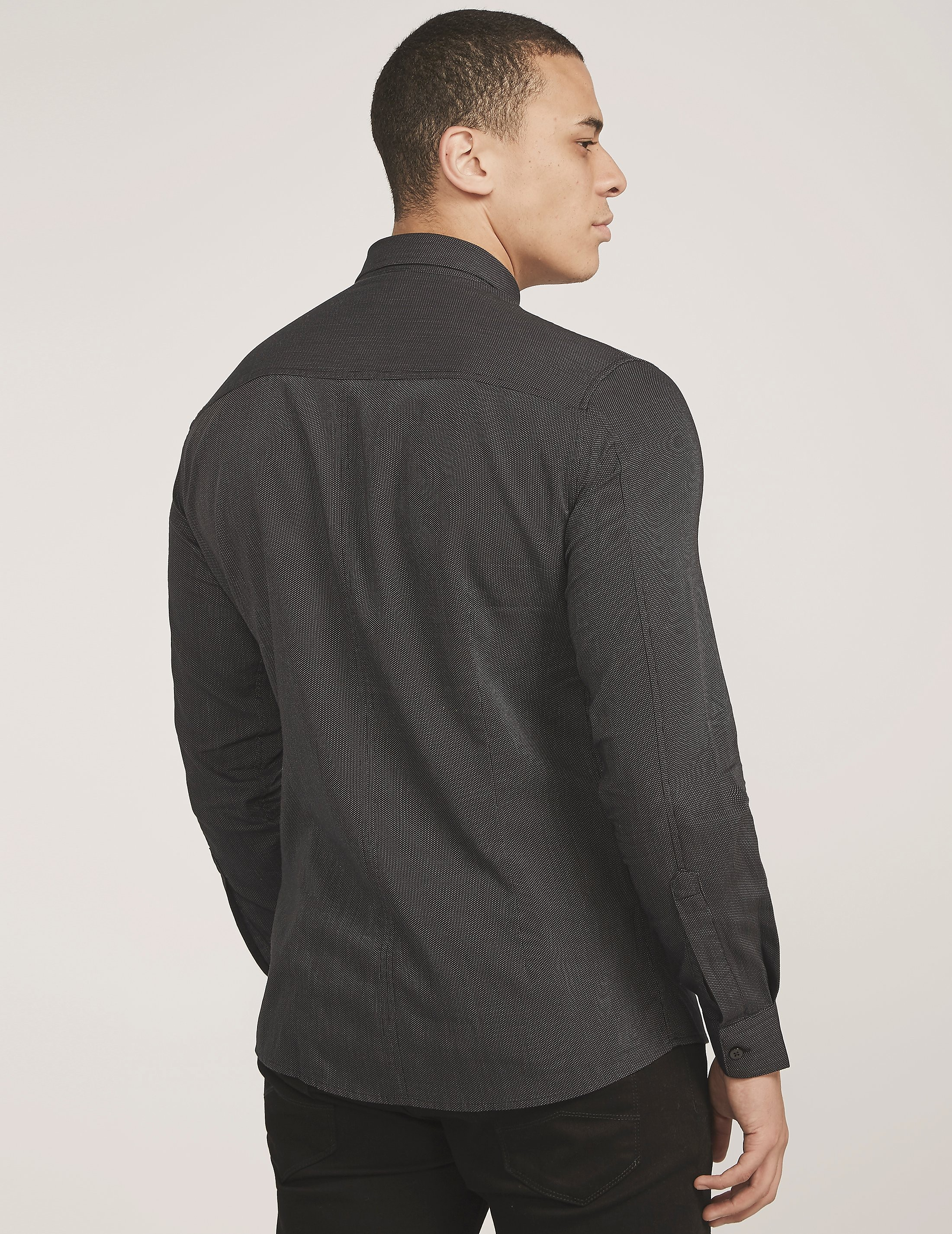 Armani Jeans Tape Detail Long Sleeve Shirt