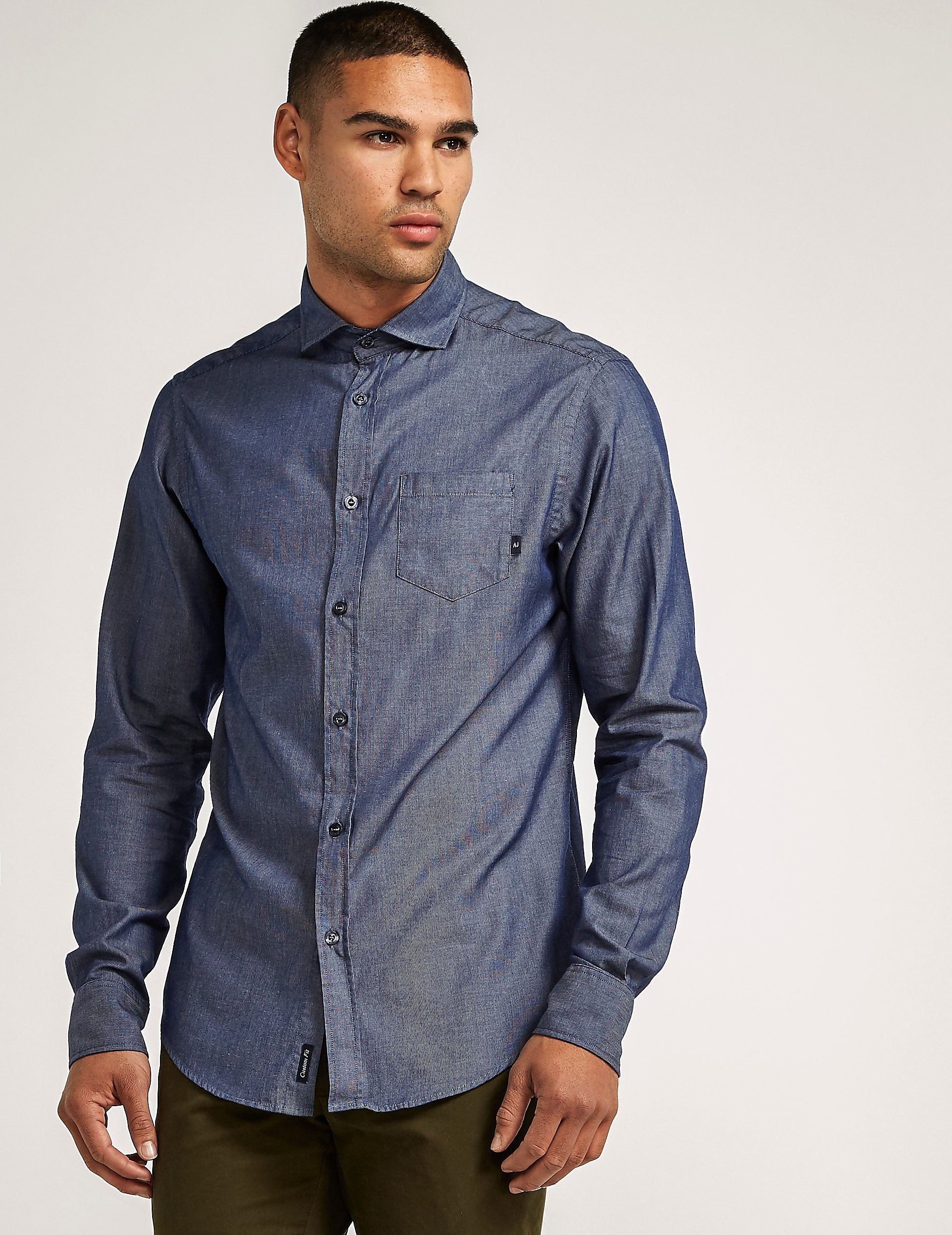 Armani Jeans Custom Fit Long Sleeve Shirt
