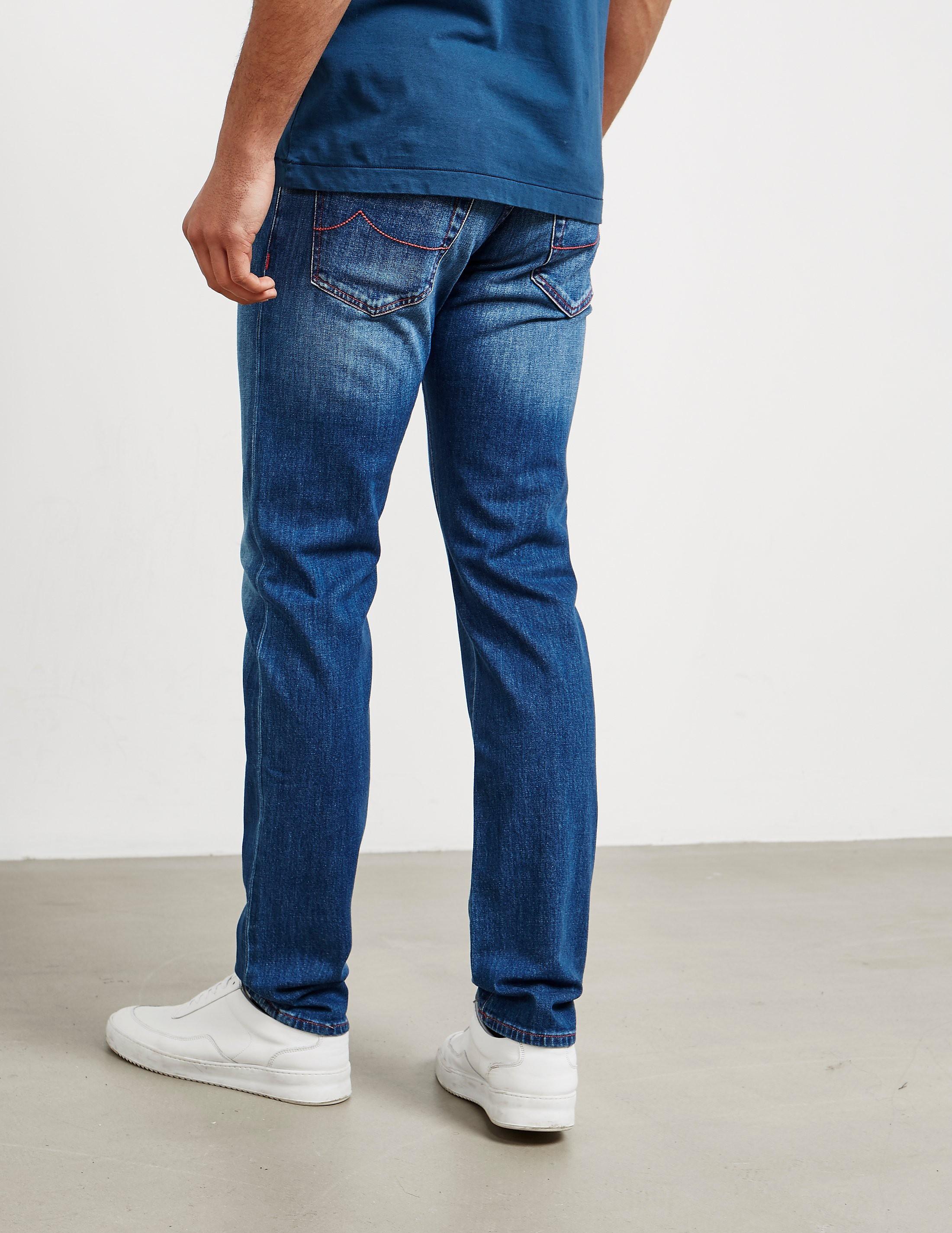 Jacob Cohen Pink Rinse Denim Jeans