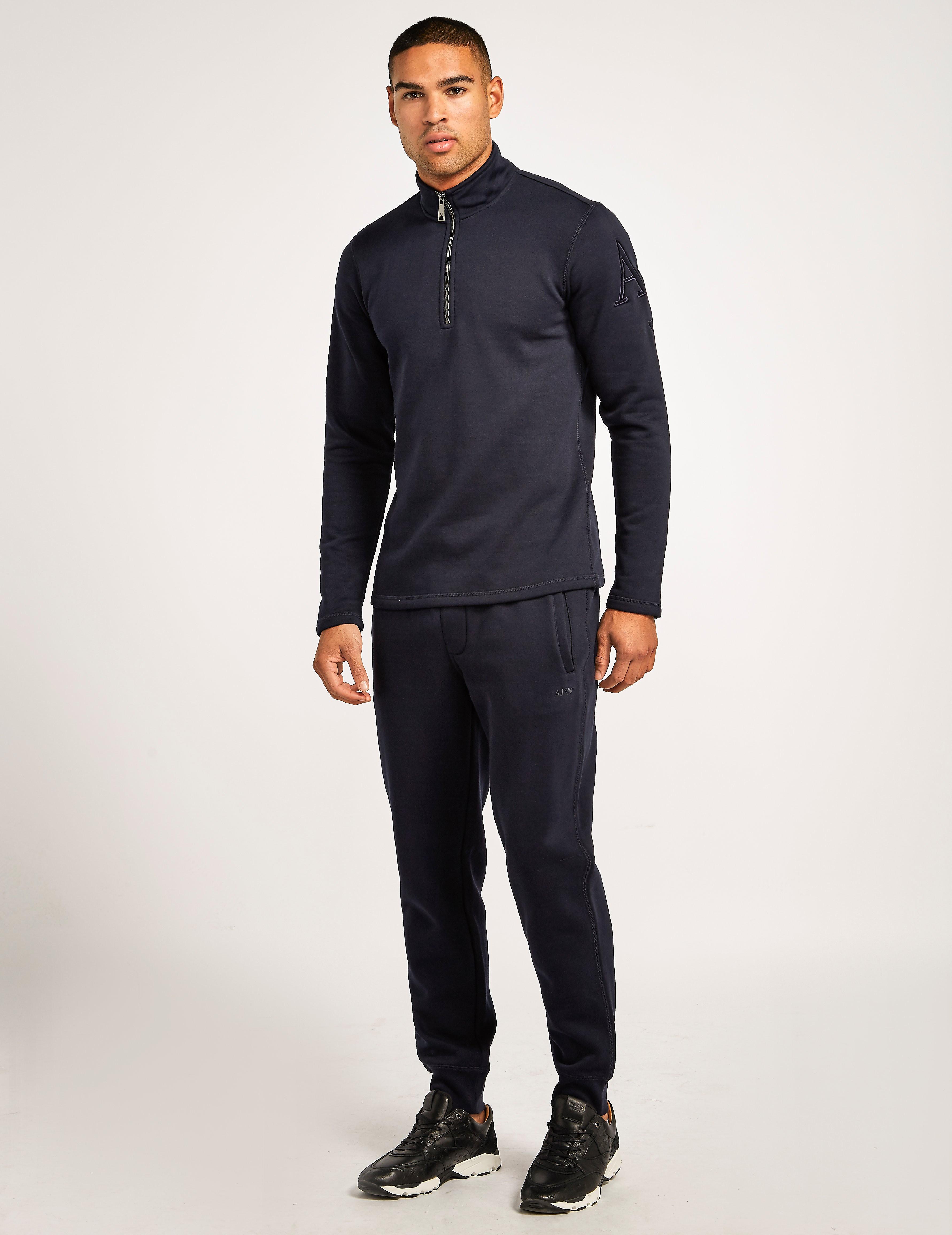 Armani Jeans Cotton 1/4 Zip Knit