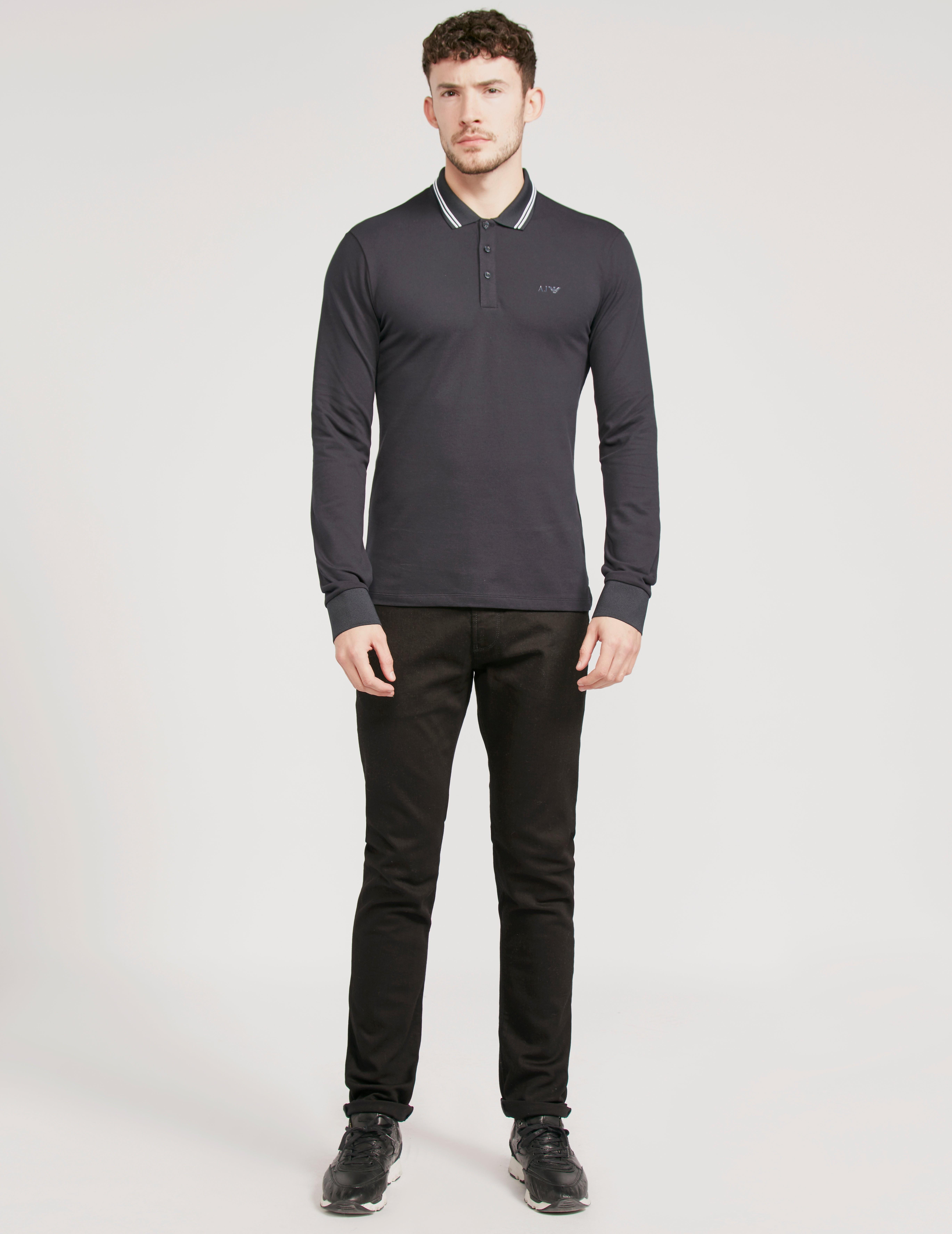 Armani Jeans Modern Fit Long Sleeve Polo Shirt