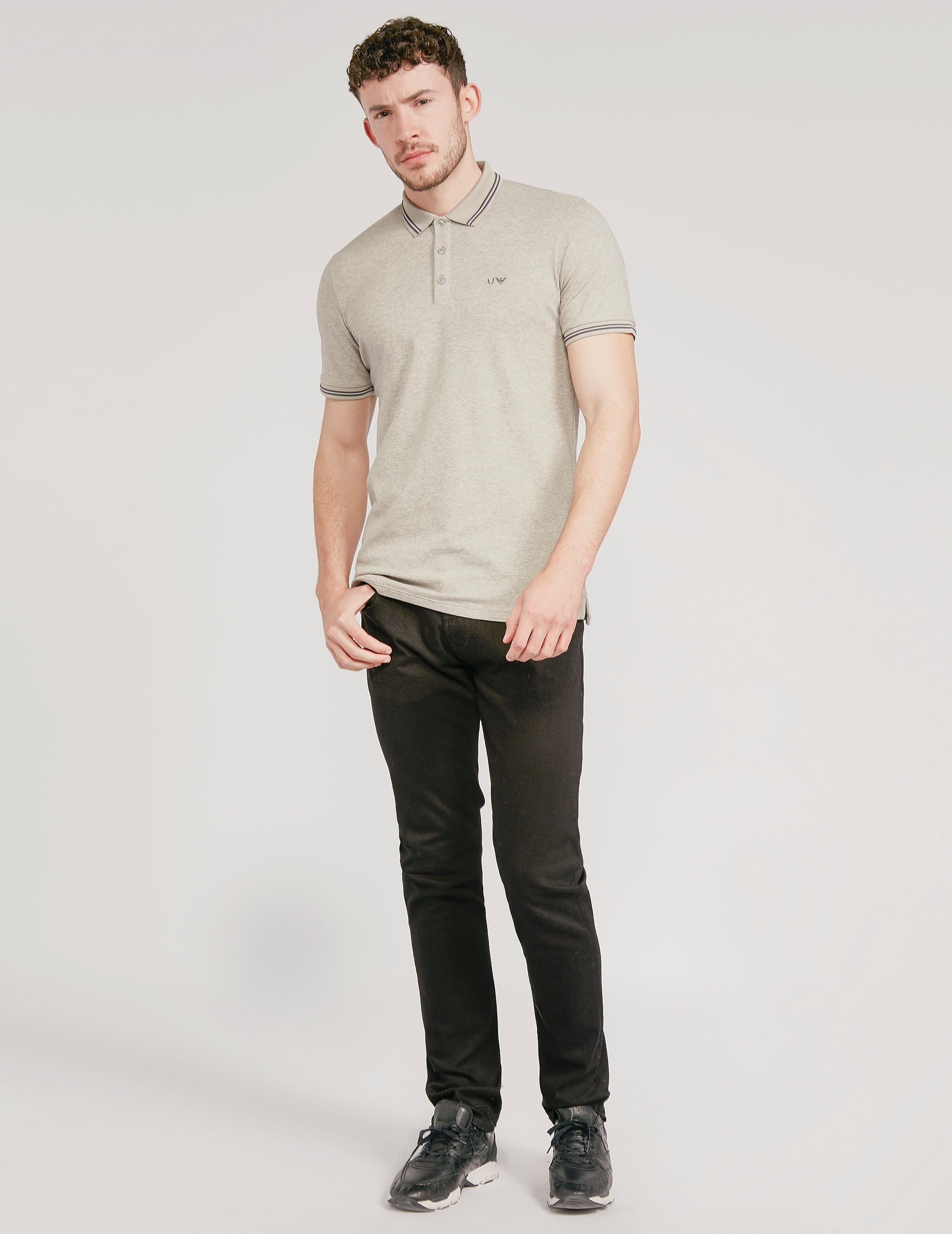 Armani Jeans Modern Fit Short Sleeve Polo Shirt