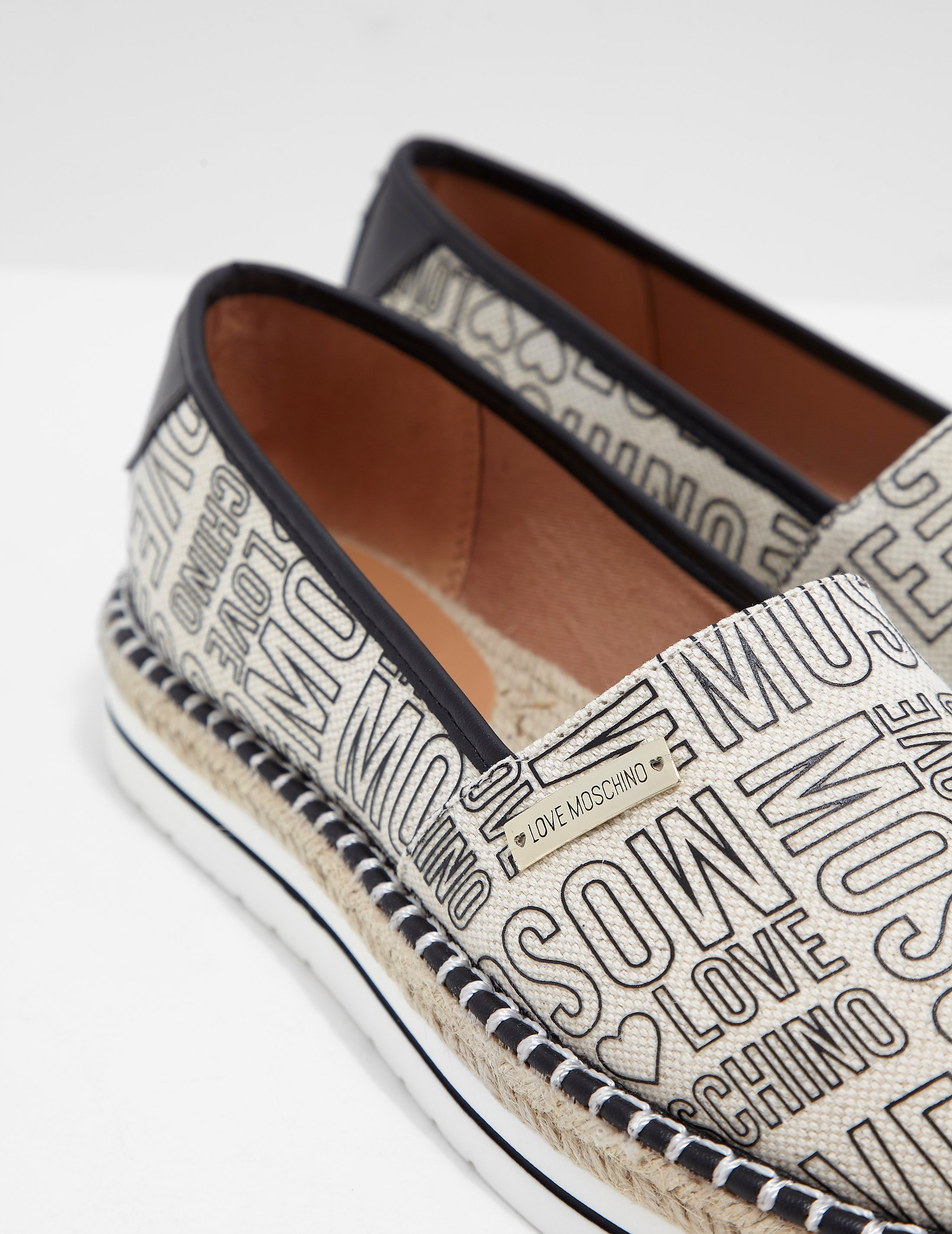 Love Moschino Printed Espadrille