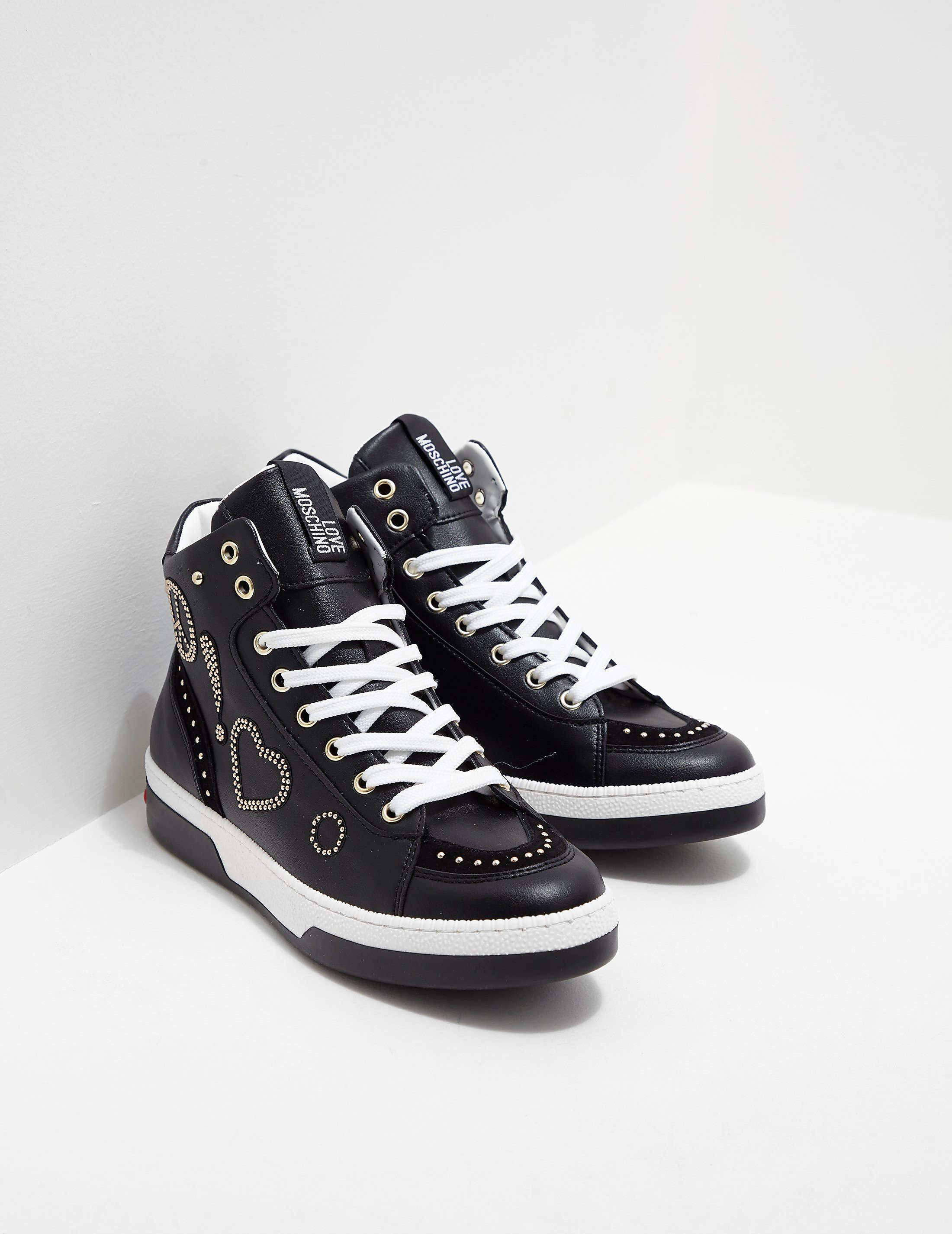 Love Moschino Stud High Top Trainers