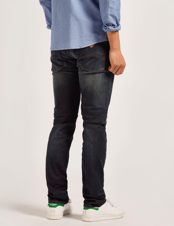 Armani Jeans J45 RT Rinse Jeans - Long Length