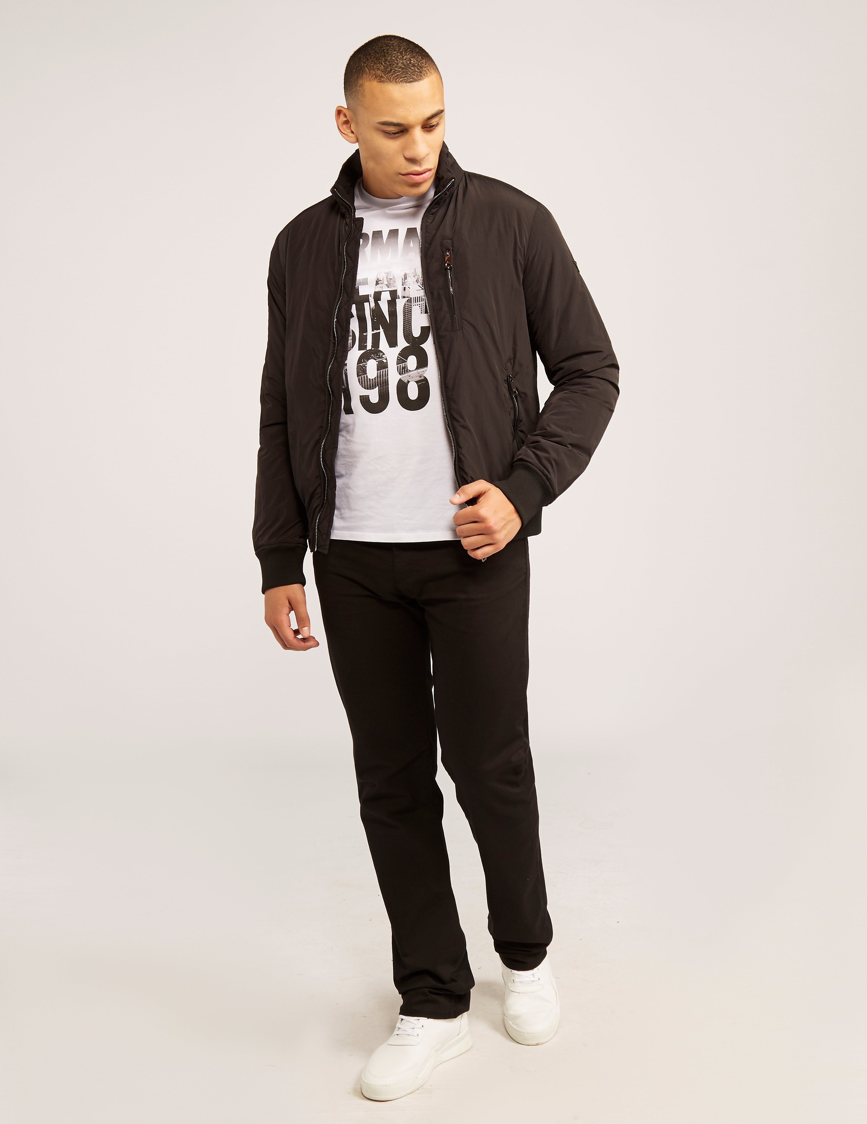 Armani Jeans Nylon Bomber Jacket