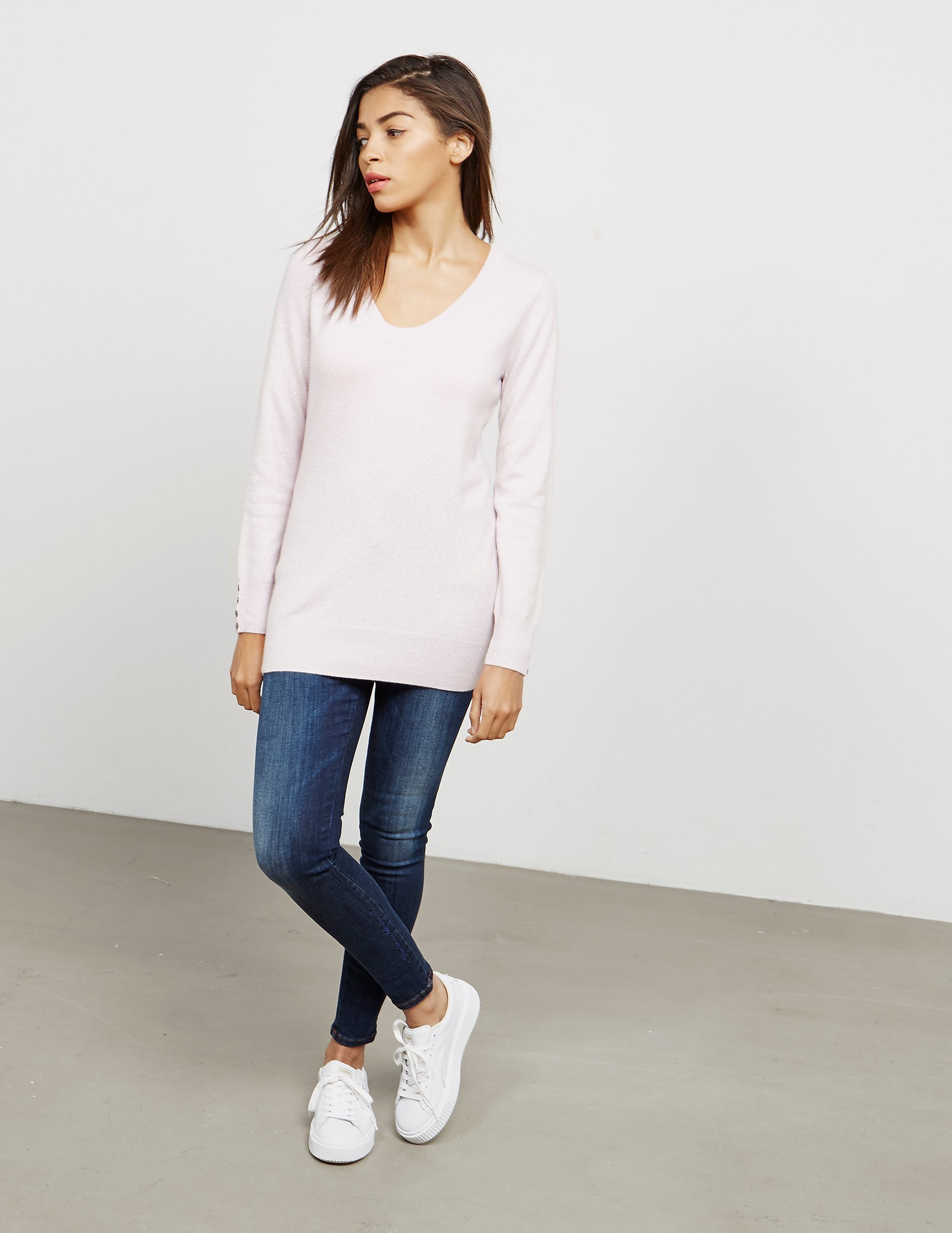 Cocoa Cashmere V-Neck Knitted Jumper