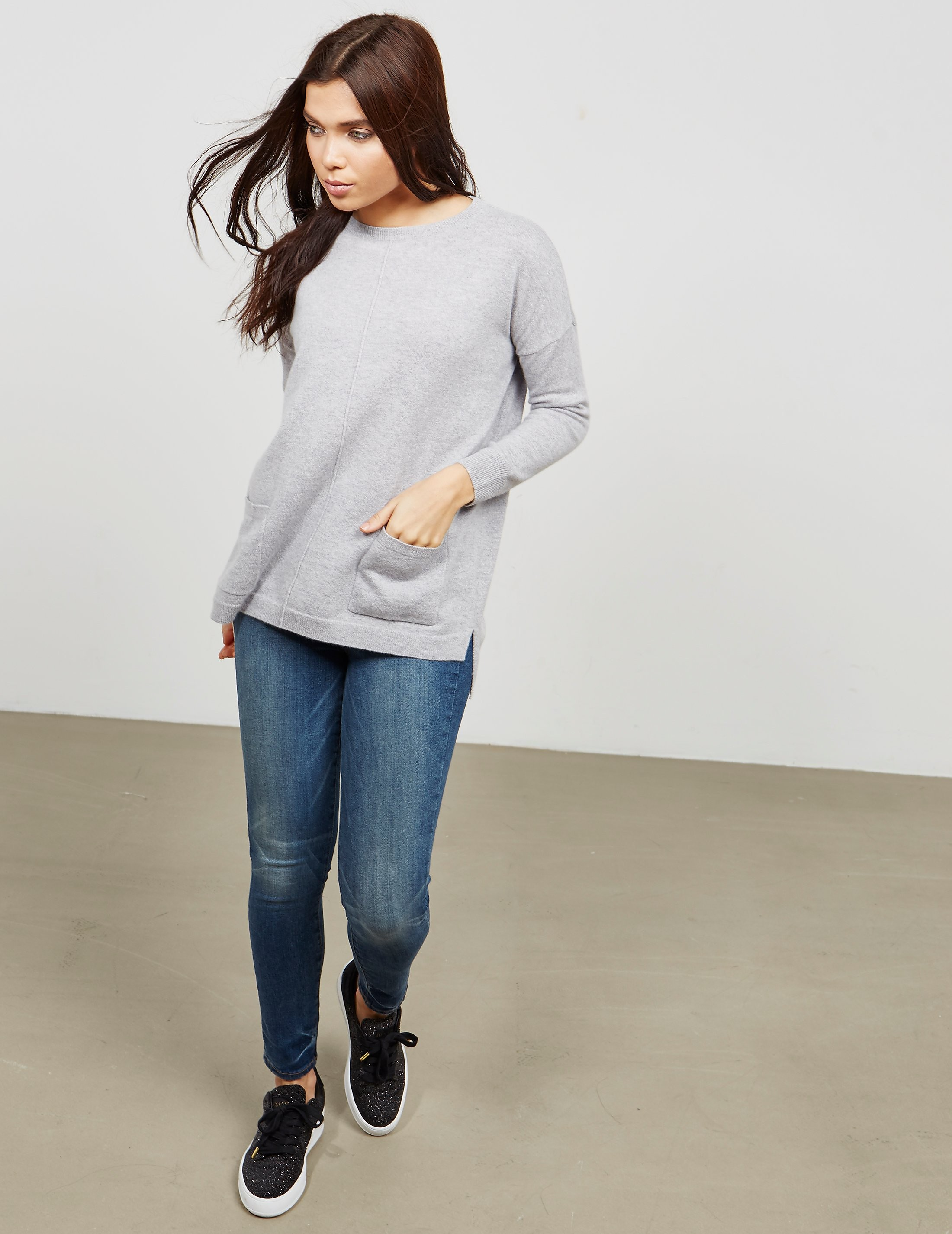 Cocoa Cashmere Pocket Knitted Jumper