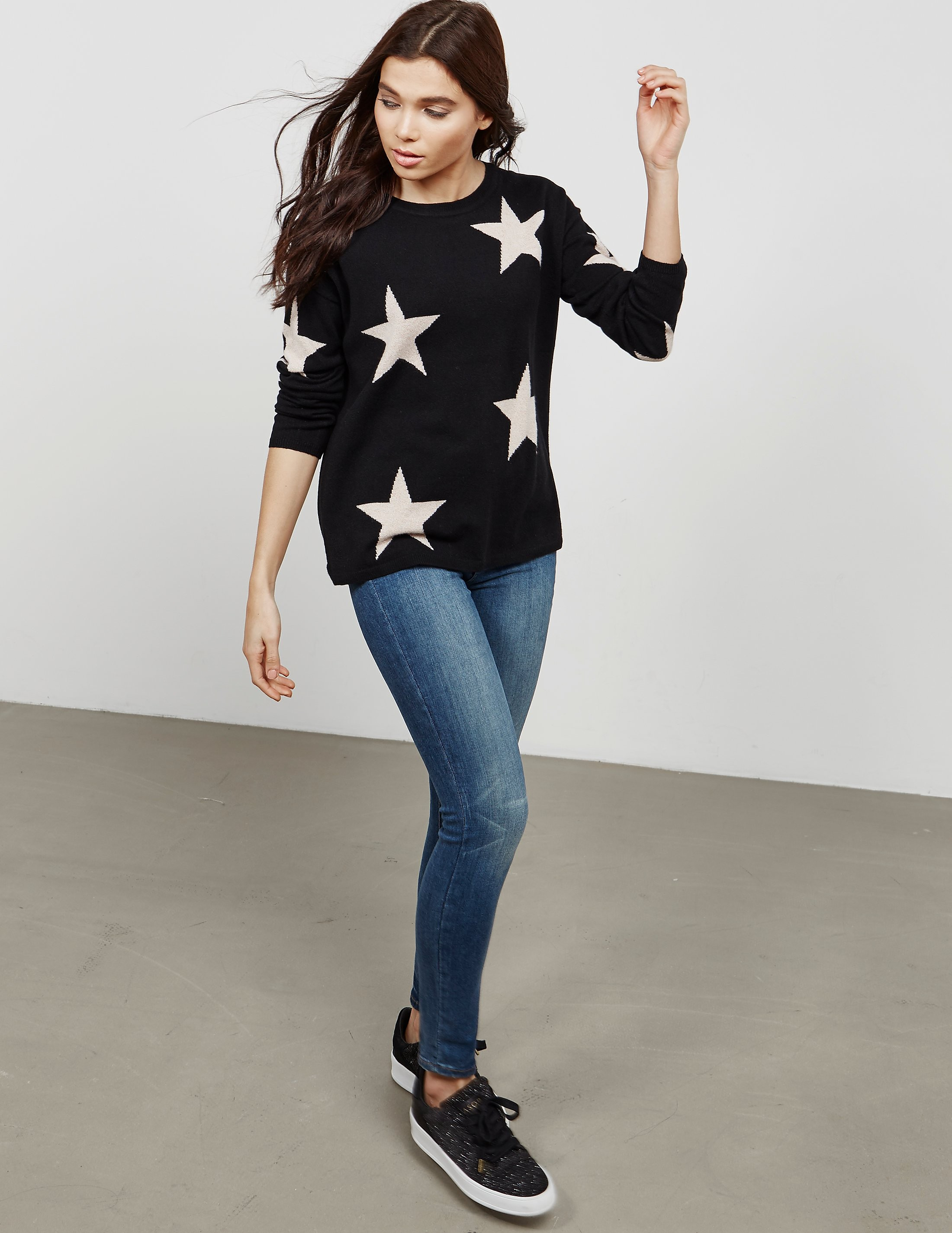 Cocoa Cashmere Star Knitted Jumper
