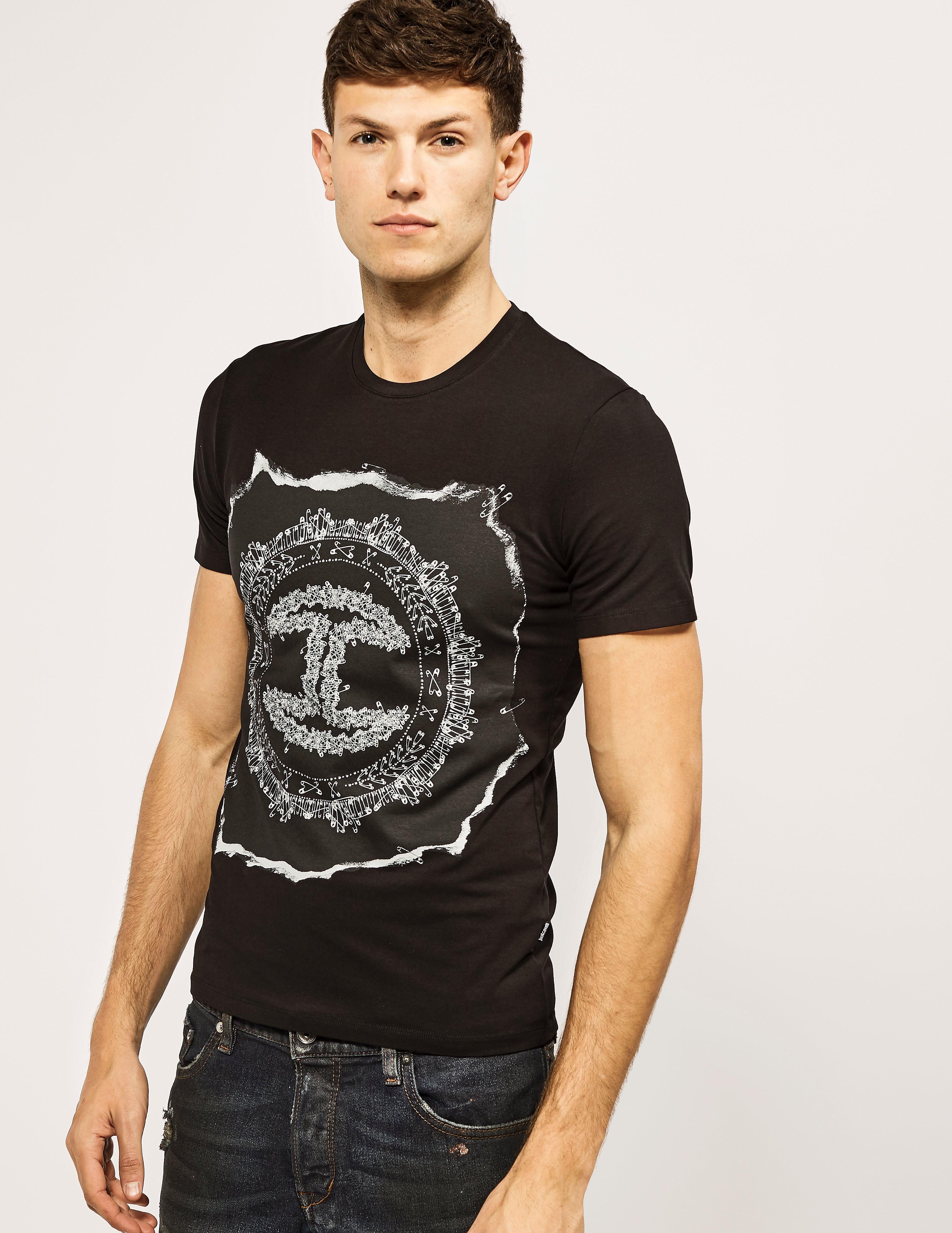 Just Cavalli Pin Logo T-Shirt