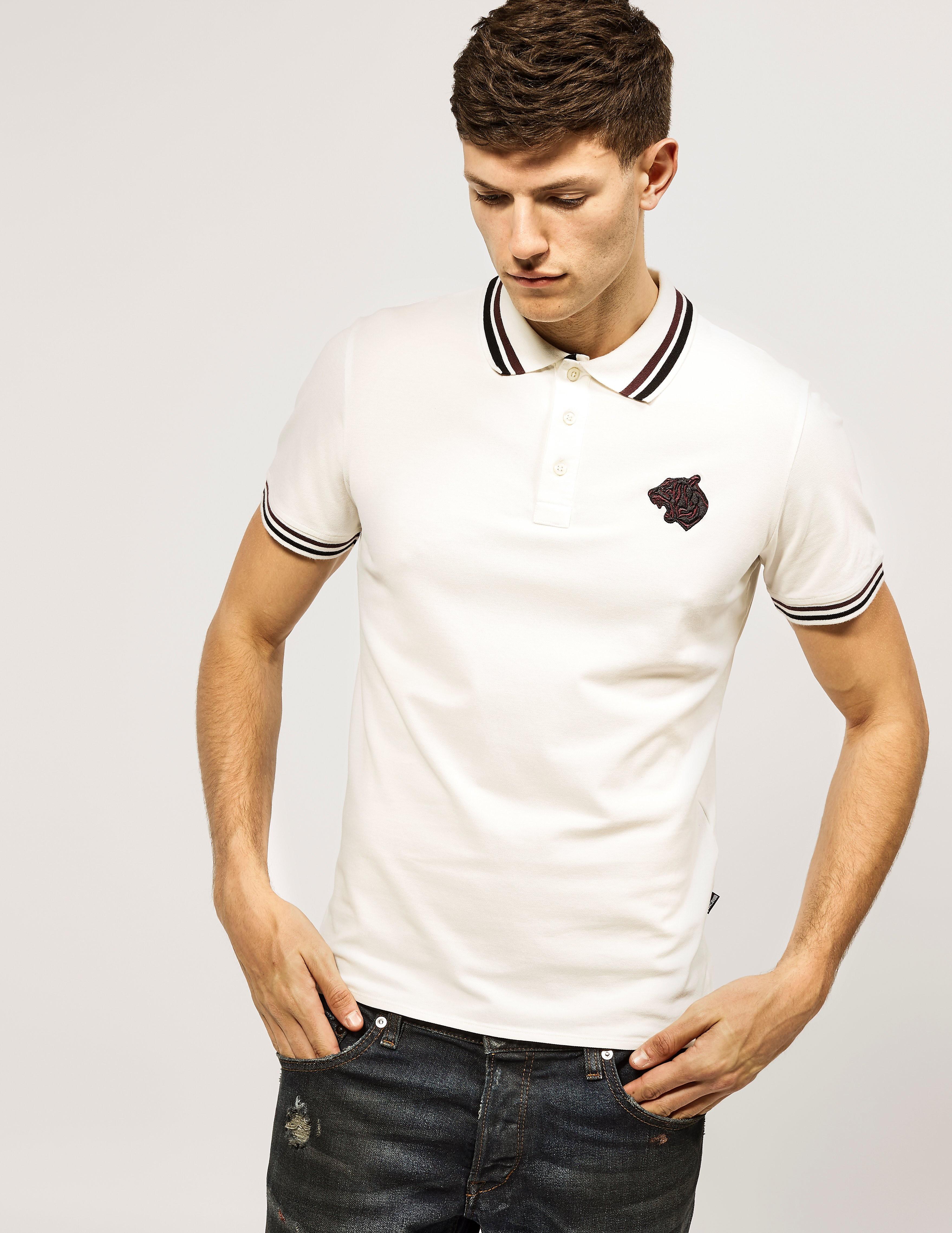 Just Cavalli Bear Embroidered Logo Polo Shirt