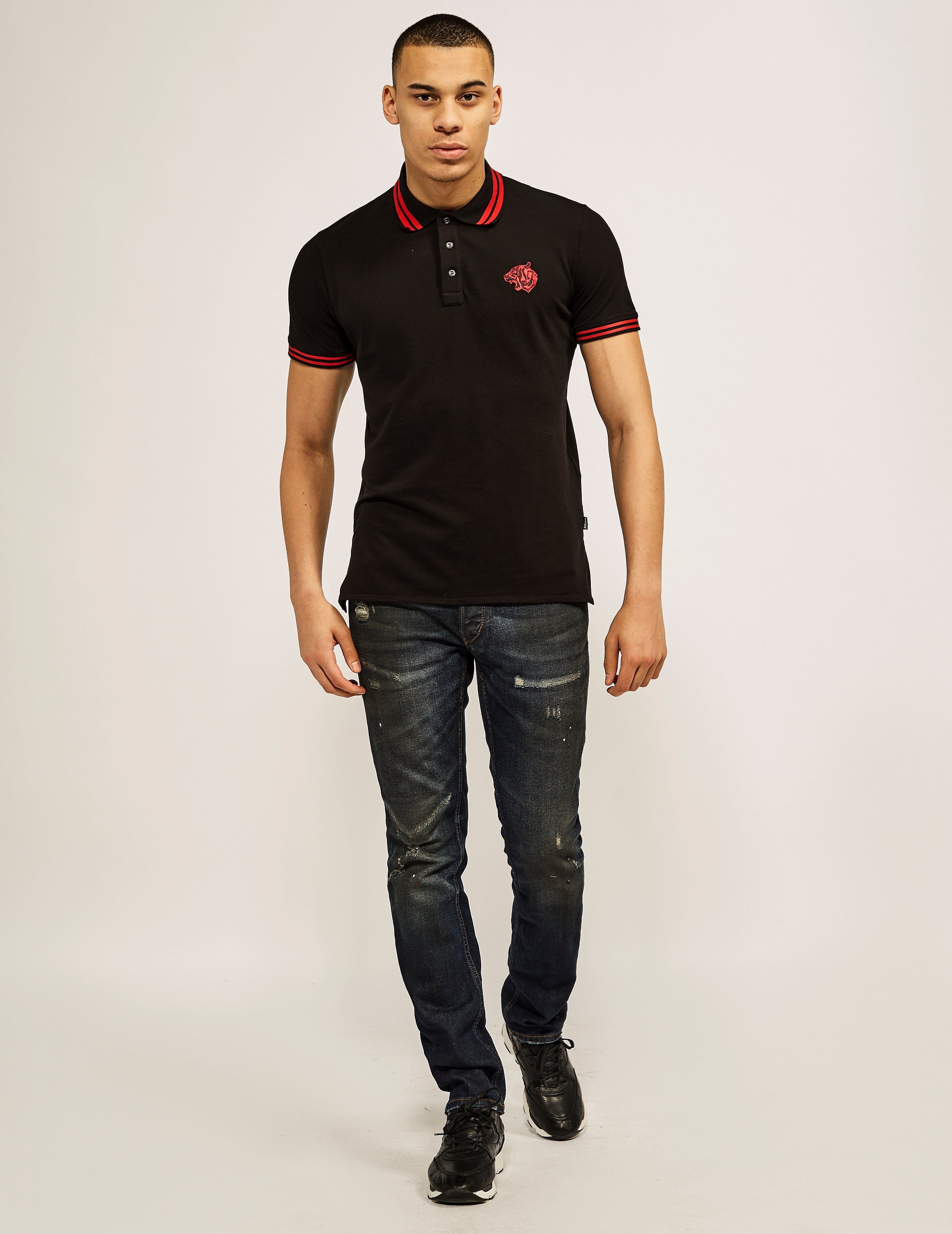 Just Cavalli Bear Embroidered Logo Polo Shirt