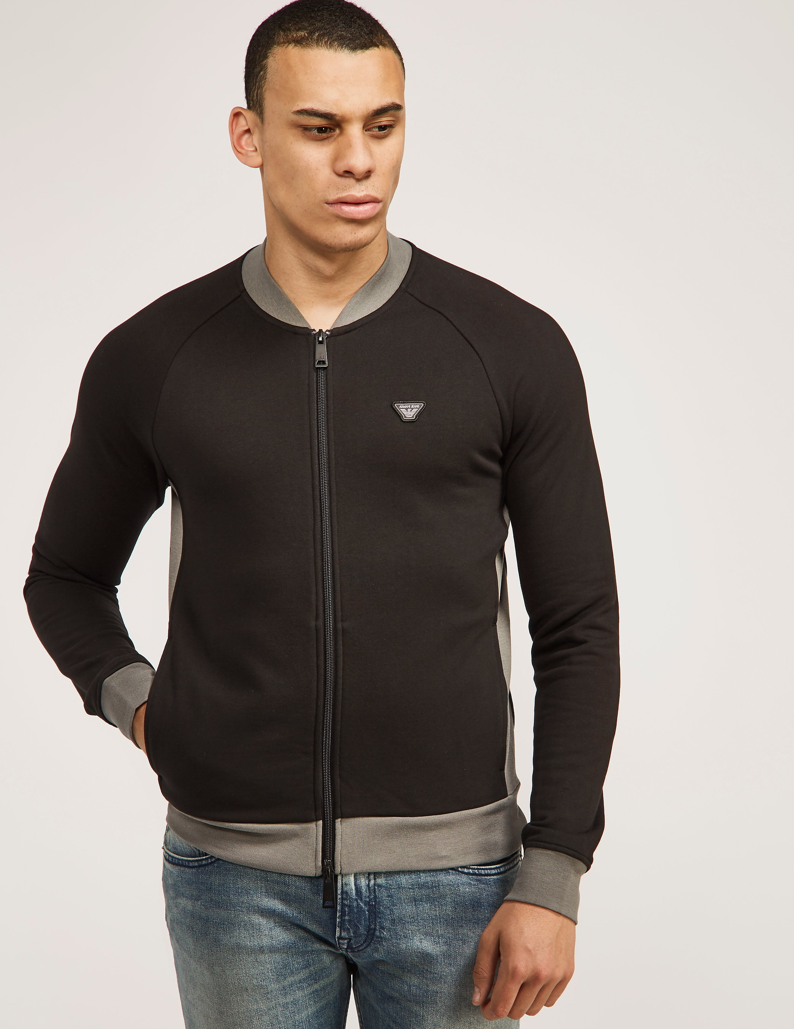 Armani Jeans Panel Zip Up Track Top