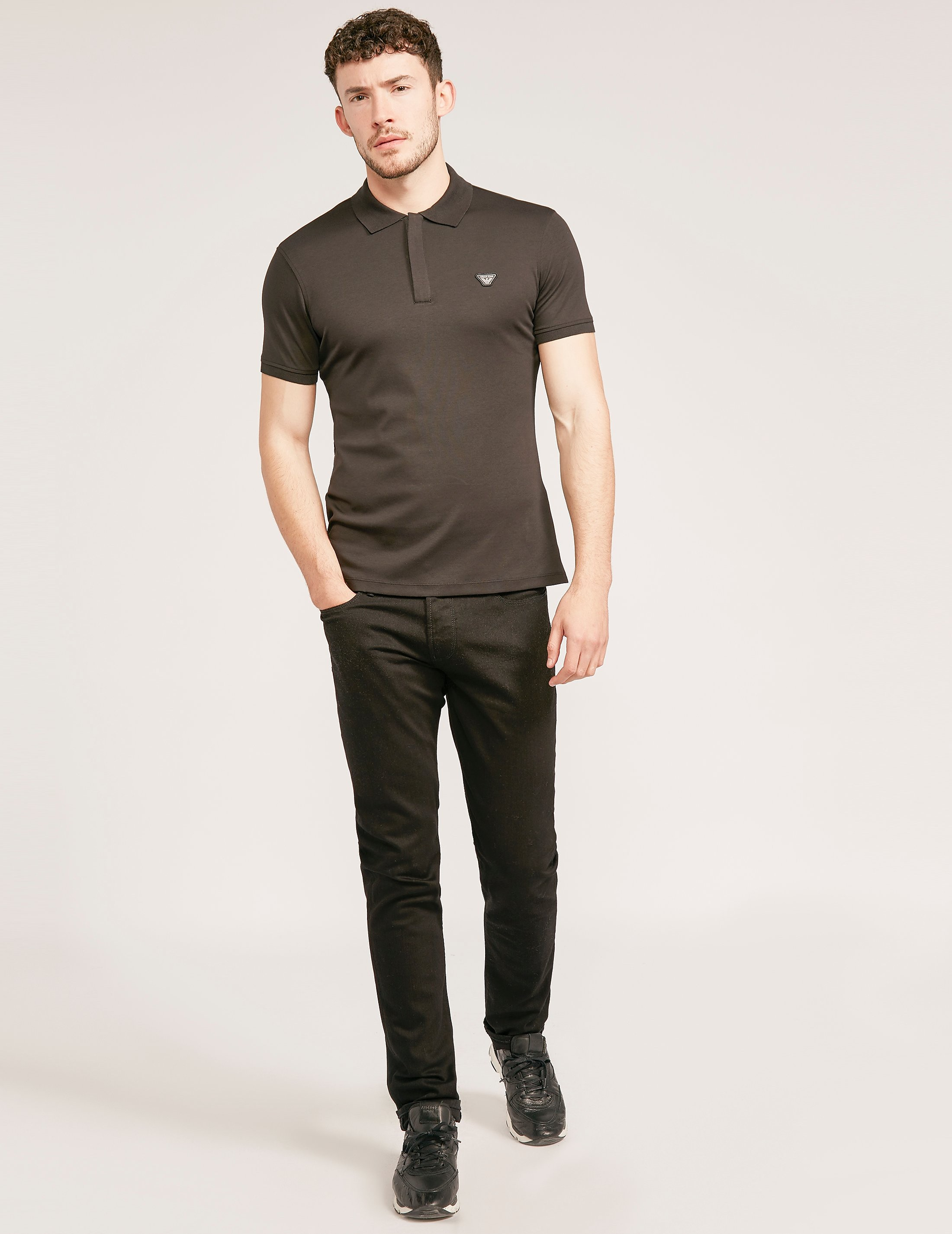 Armani Jeans Slim Fit Zip Polo
