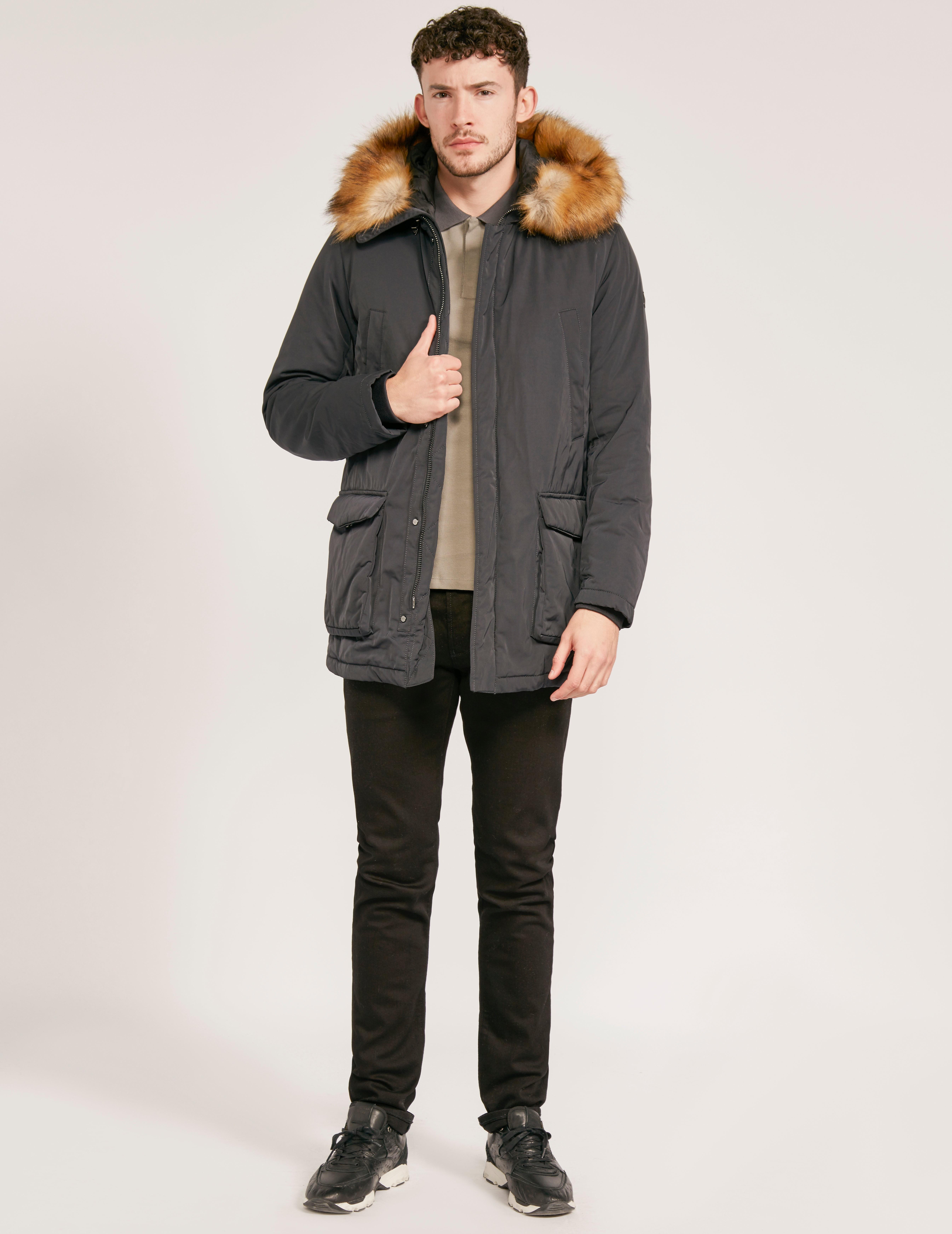 Armani Jeans Faux Fur Parka Jacket