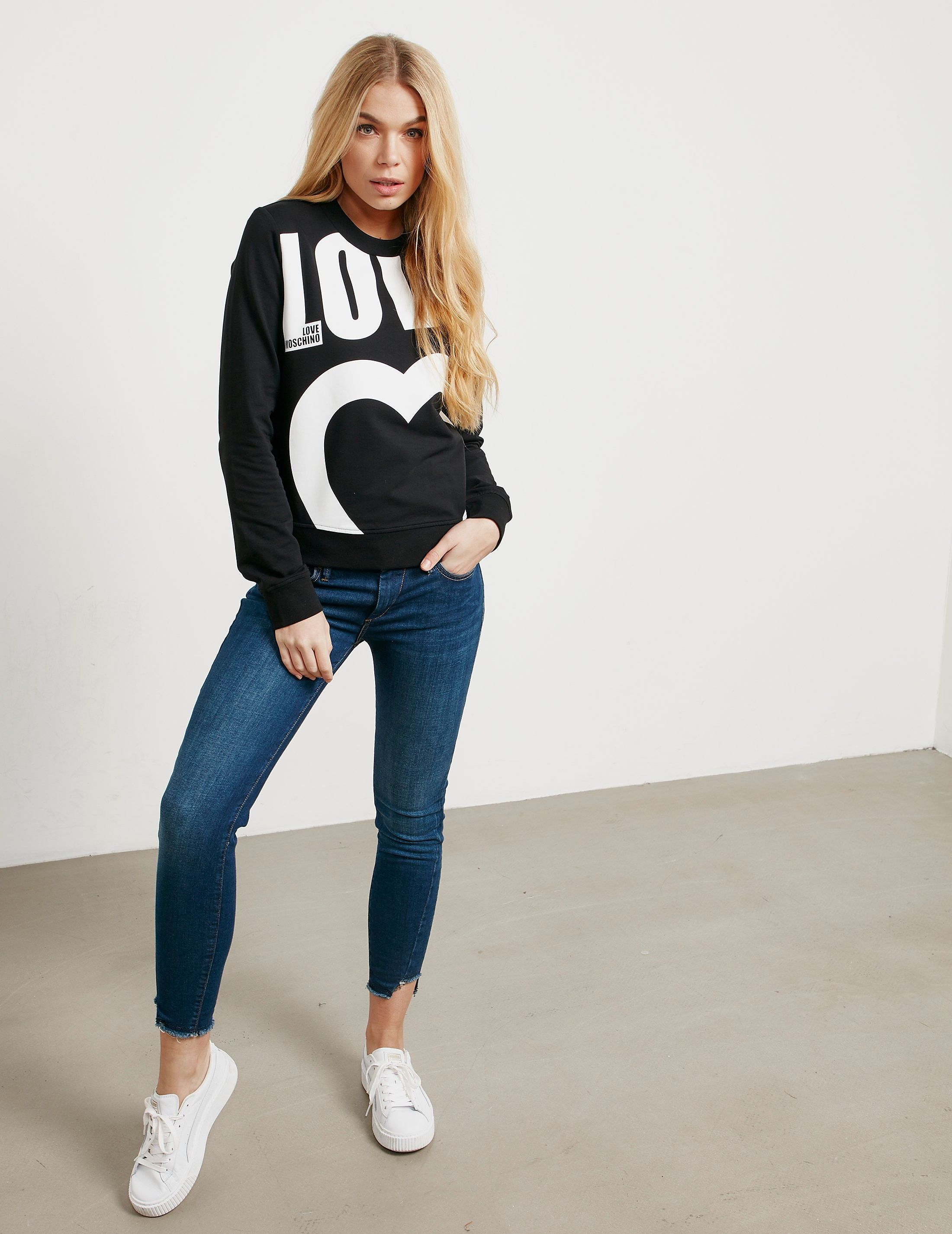 Love Moschino Large Love Logo Sweatshirt