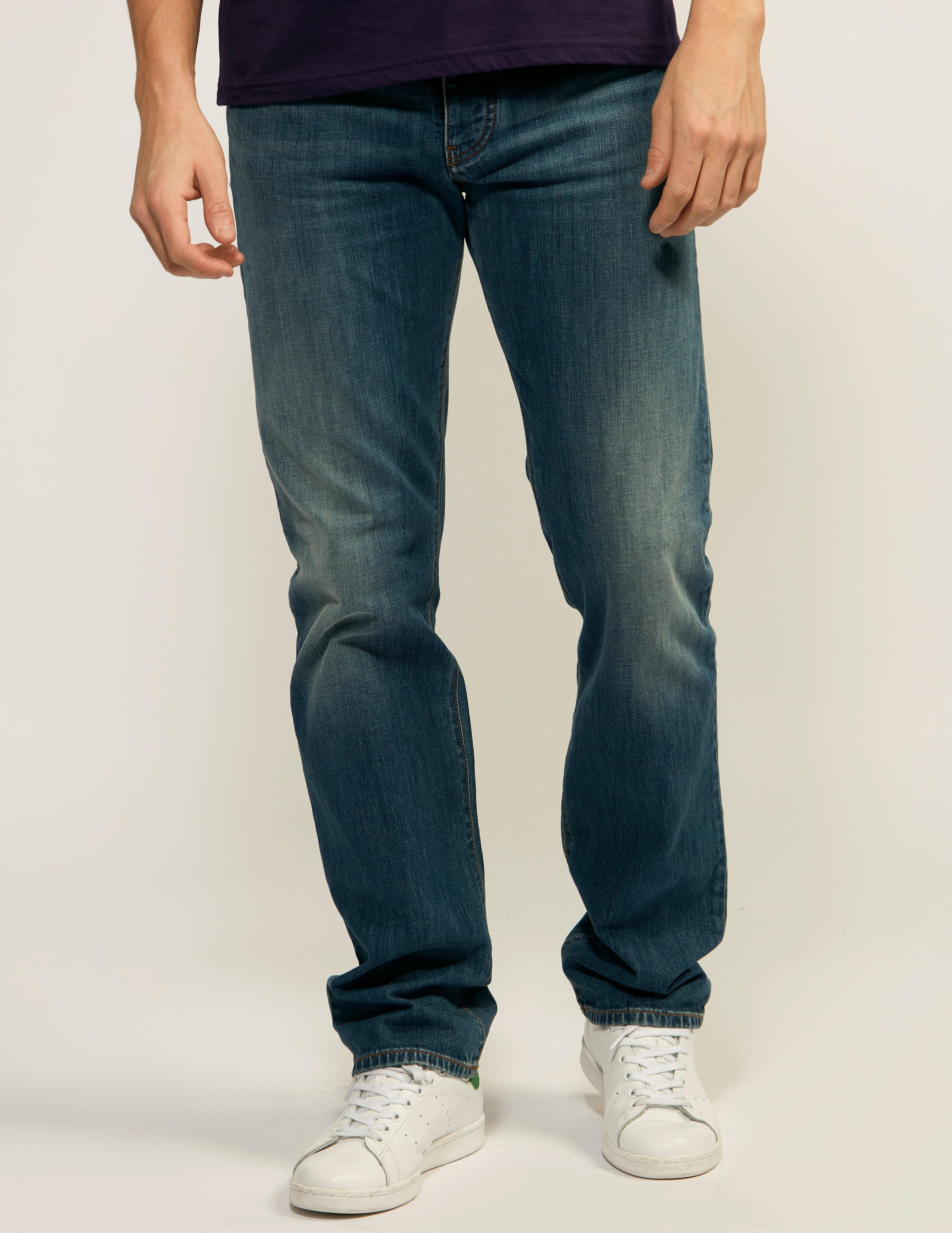 Armani Jeans J21 Stone Wash Regular Fit Jeans - Long