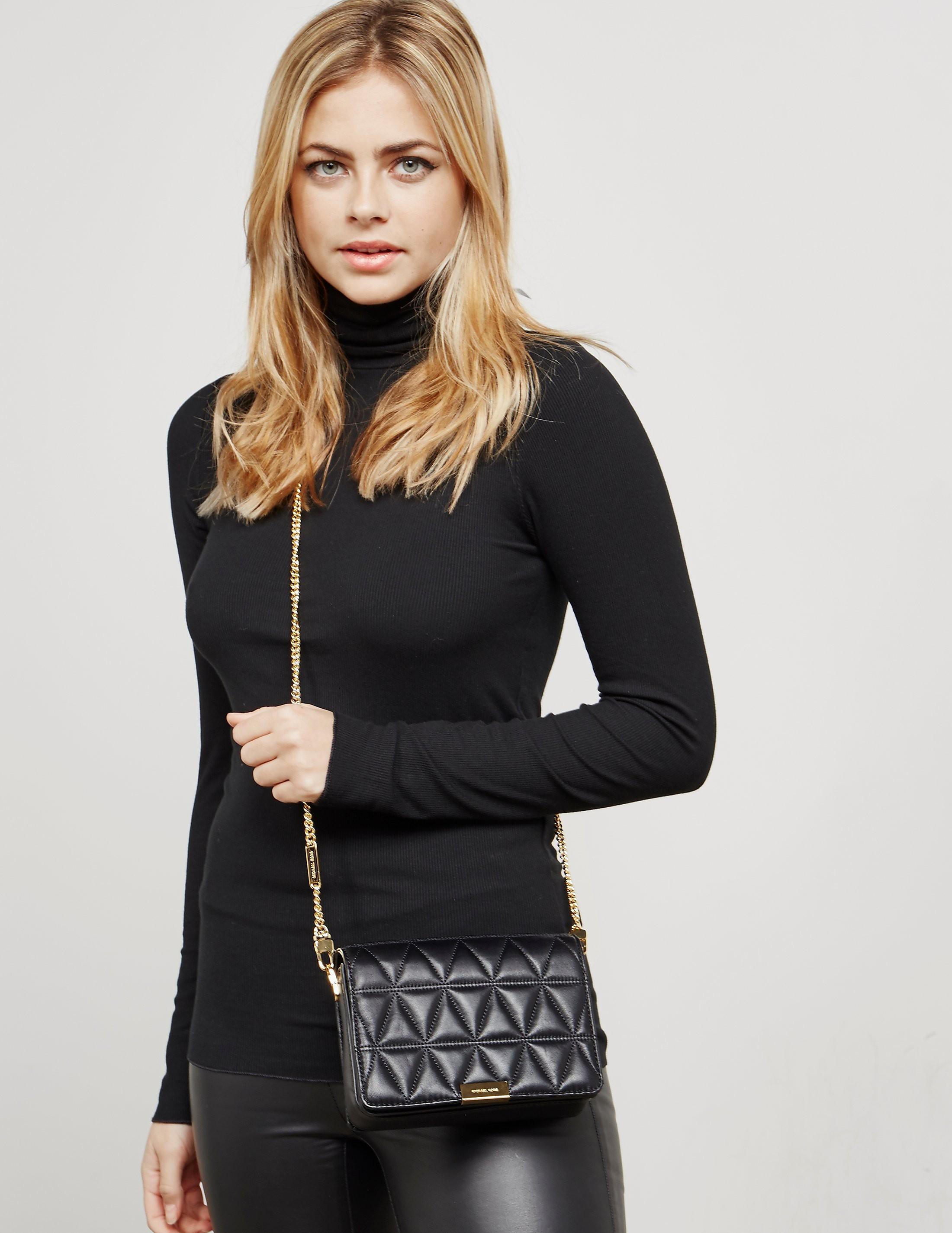 Michael Kors Jade Quilted Clutch Bag