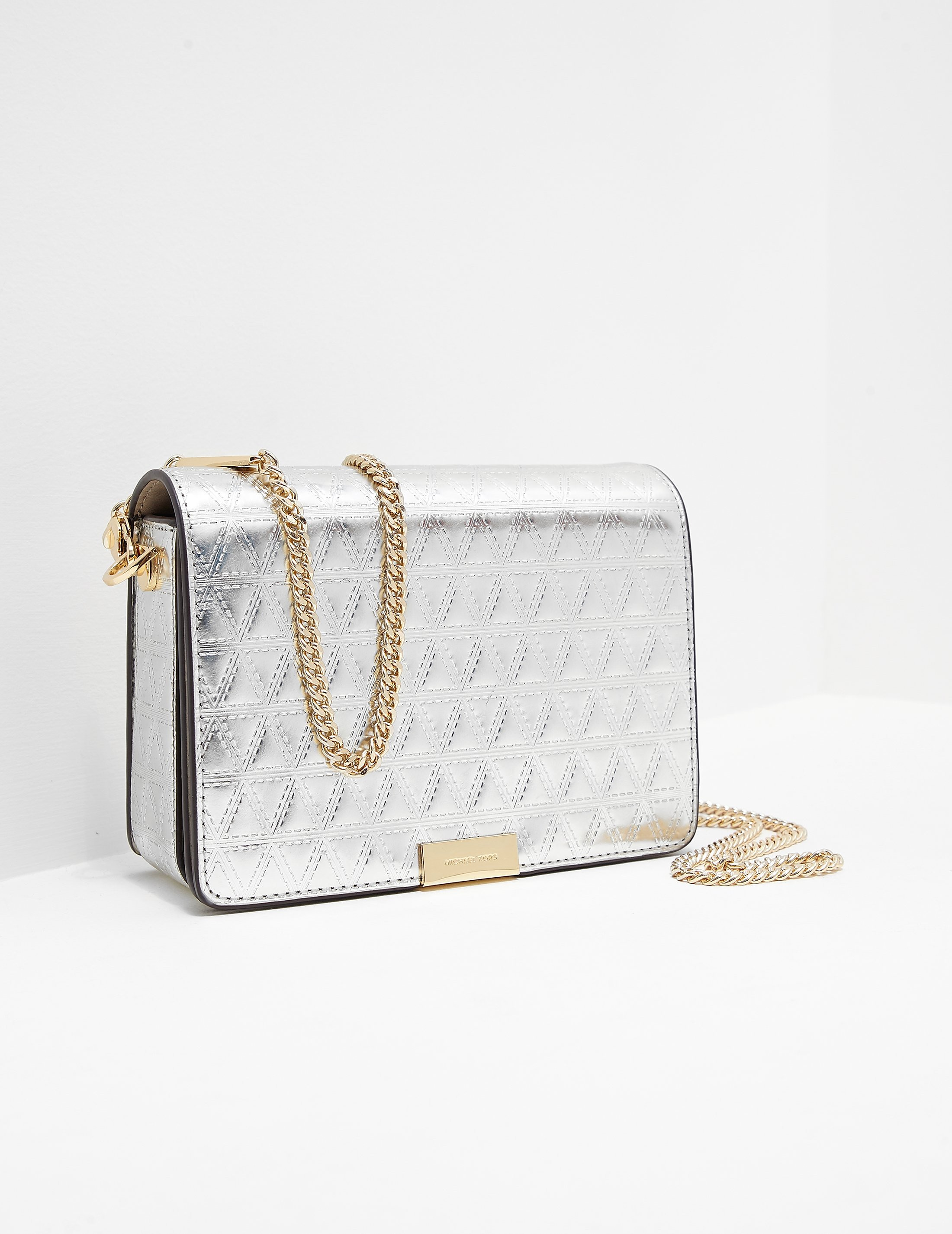 Michael Kors Jade Quilted Clutch Bag
