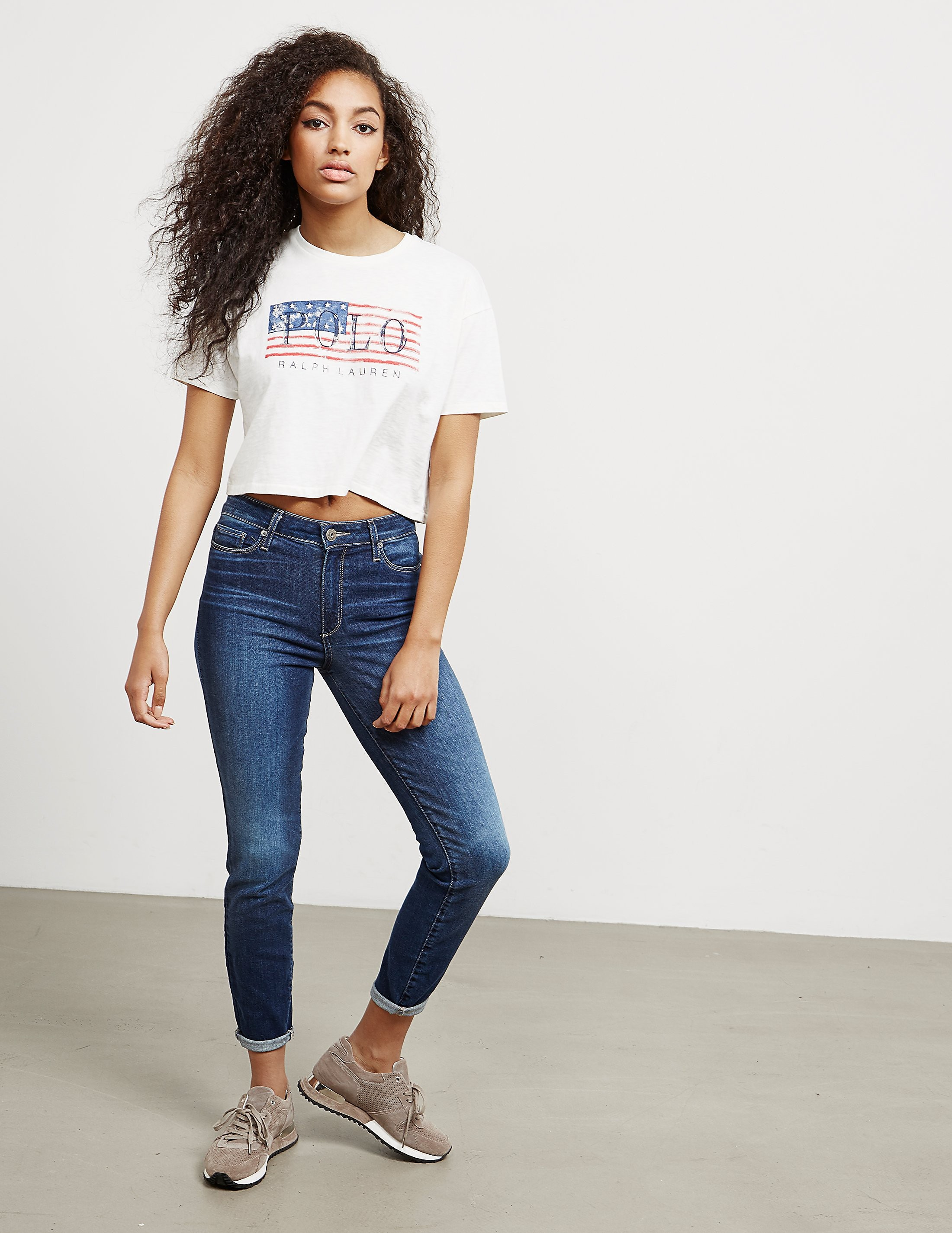 Polo Ralph Lauren Flag Short Sleeve Crop T-Shirt