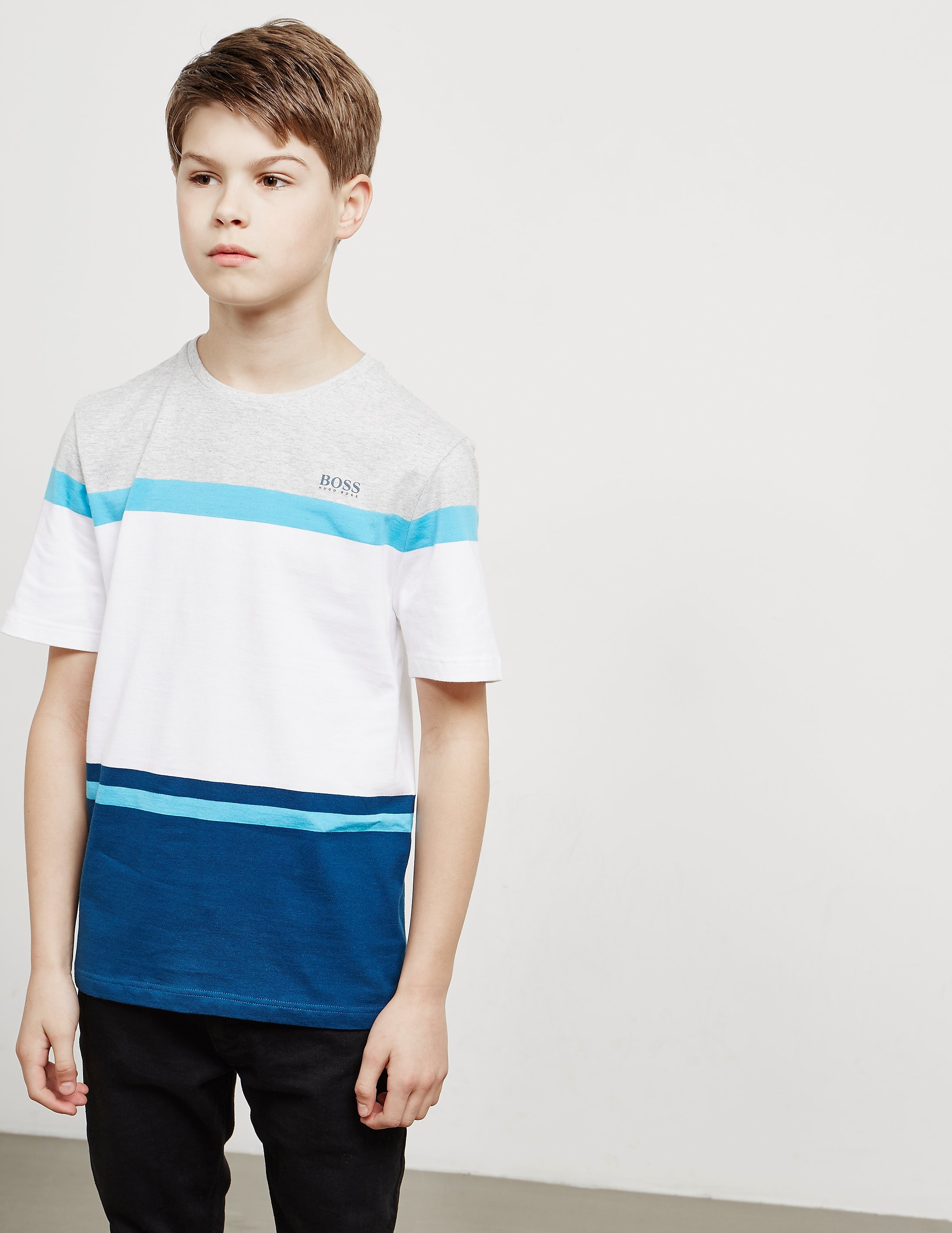 BOSS Block Stripe Short Sleeve T-Shirt