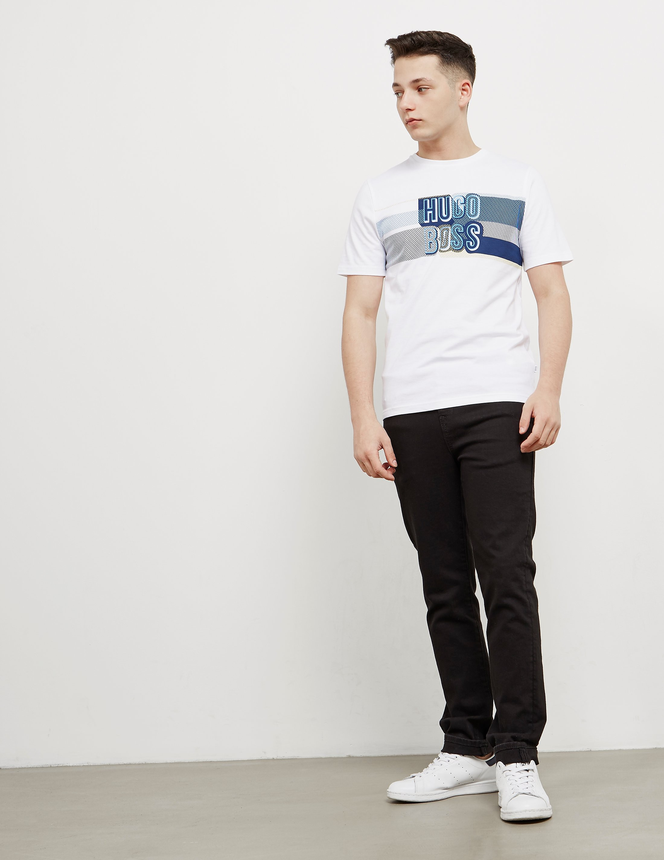BOSS Letterline Short Sleeve T-Shirt