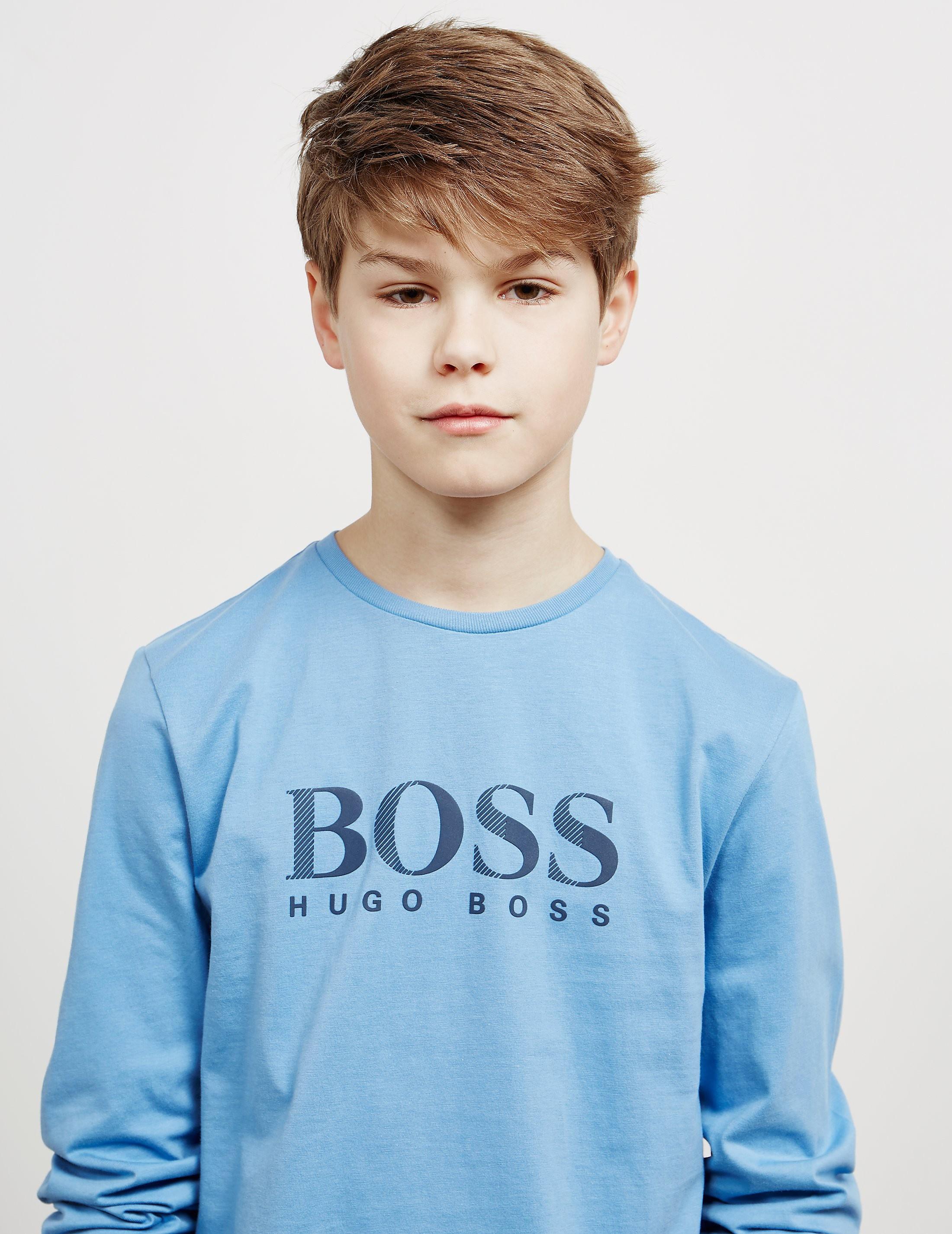 BOSS Large Logo Long Sleeve T-Shirt