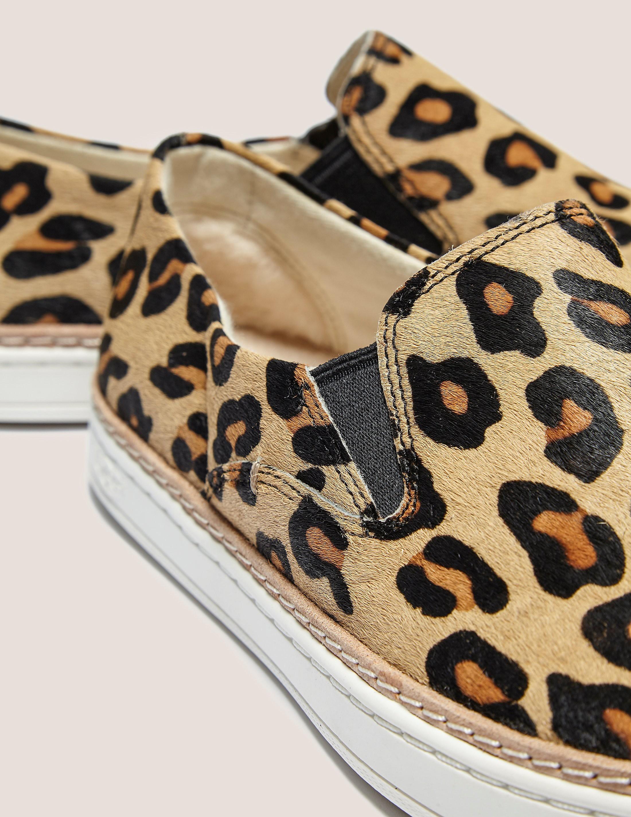 UGG Keile Calf Leopard Sneaker