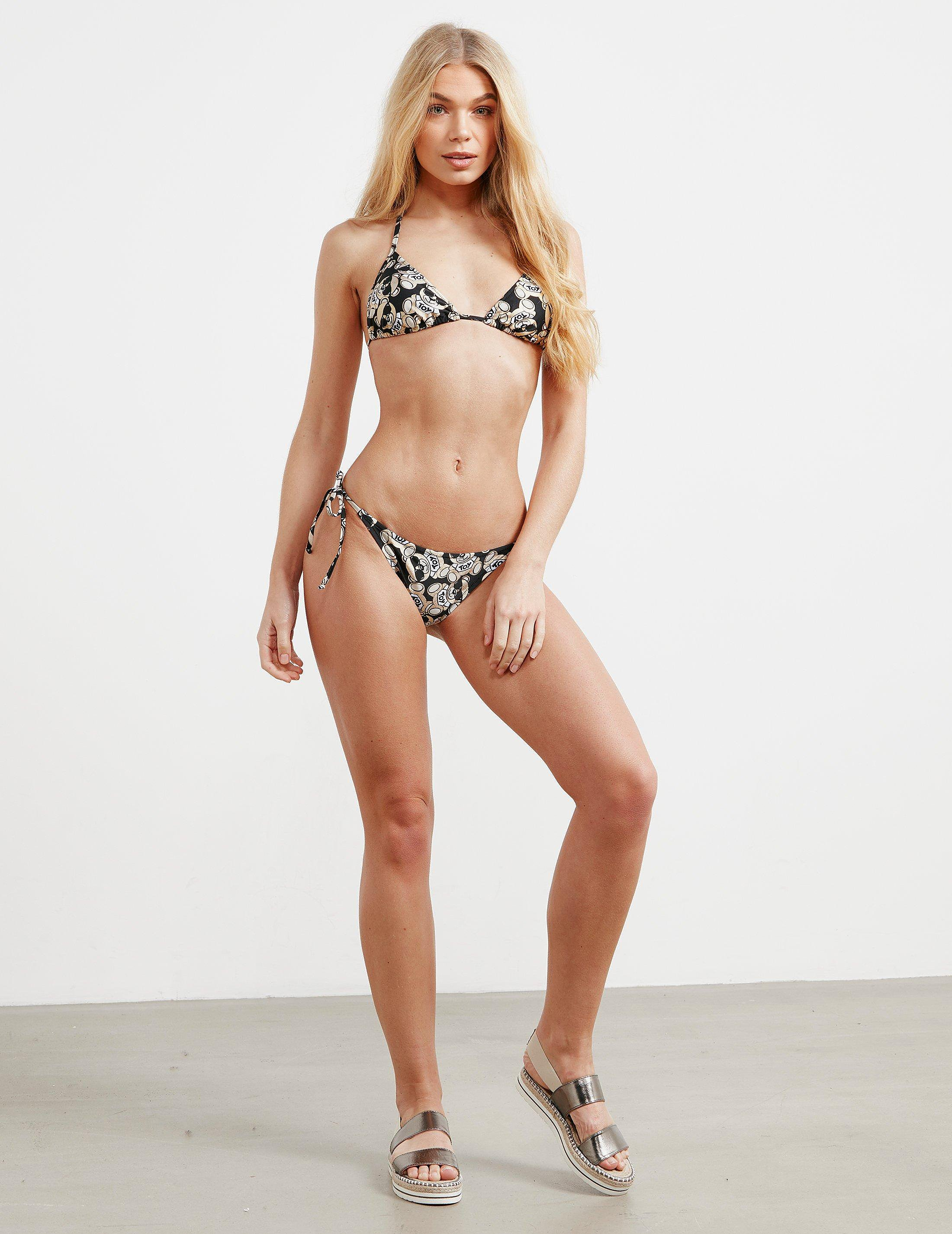 Moschino Teddy Print Bikini Set