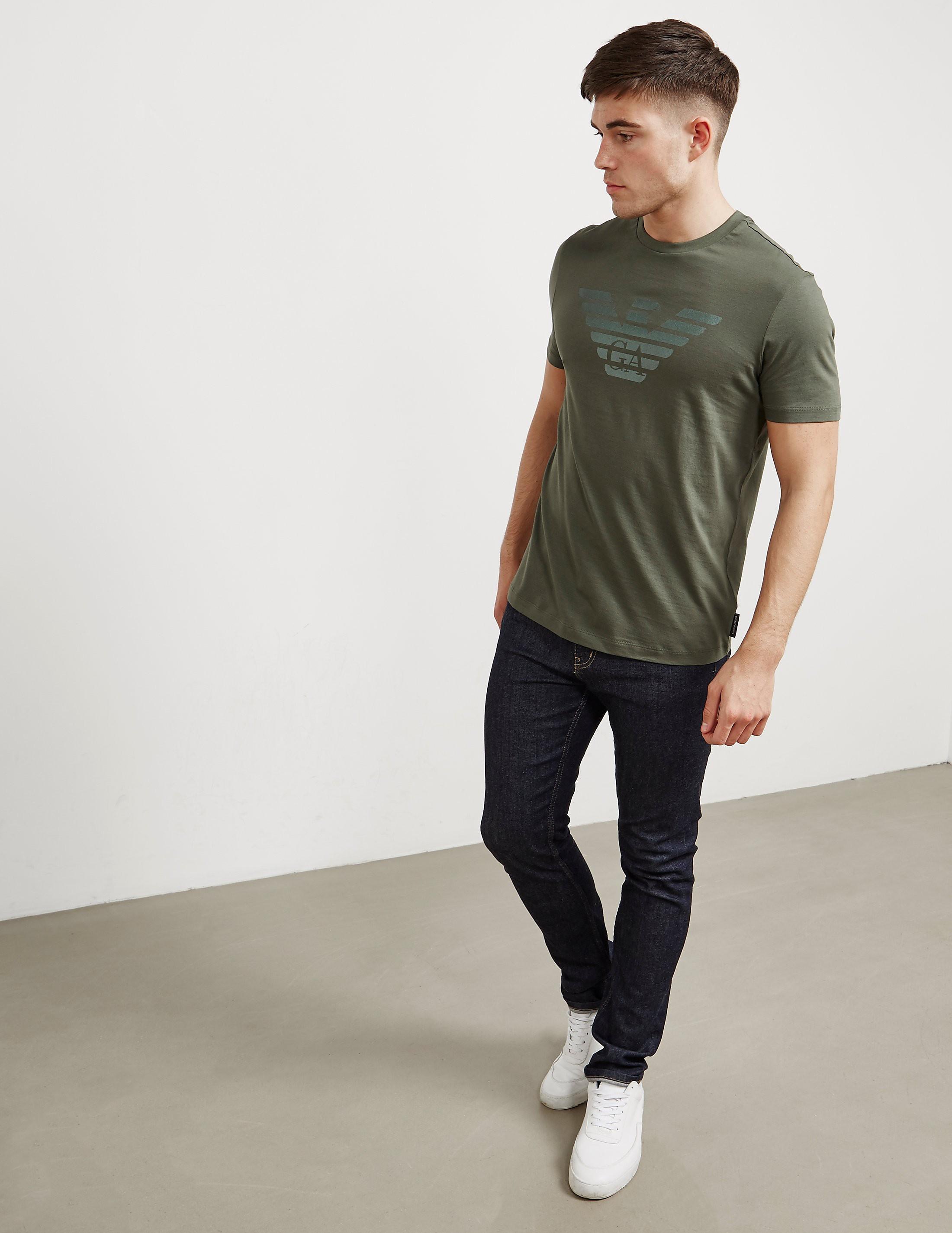 Emporio Armani Double Eagle Short Sleeve T-Shirt