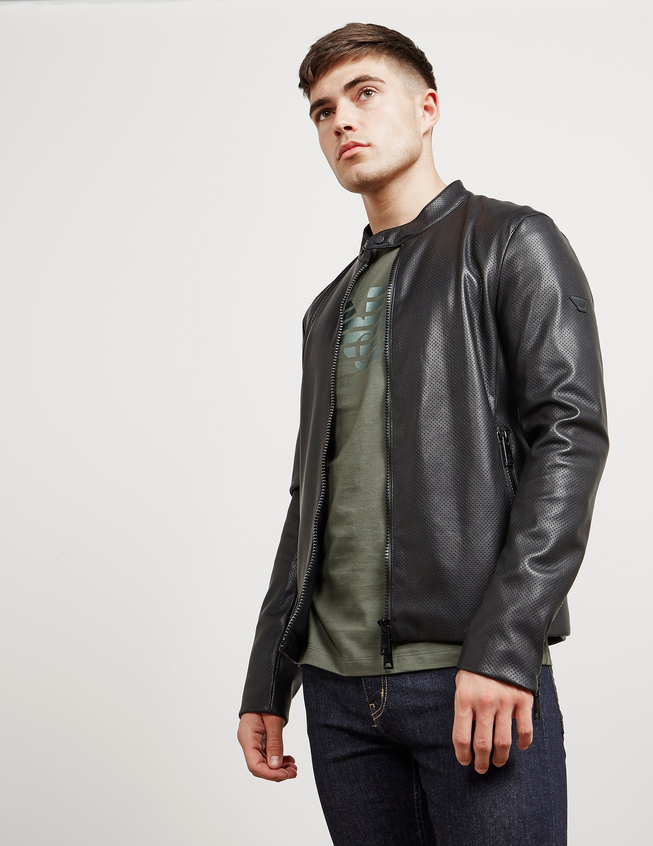 Emporio Armani Eco Leather Bomber Jacket
