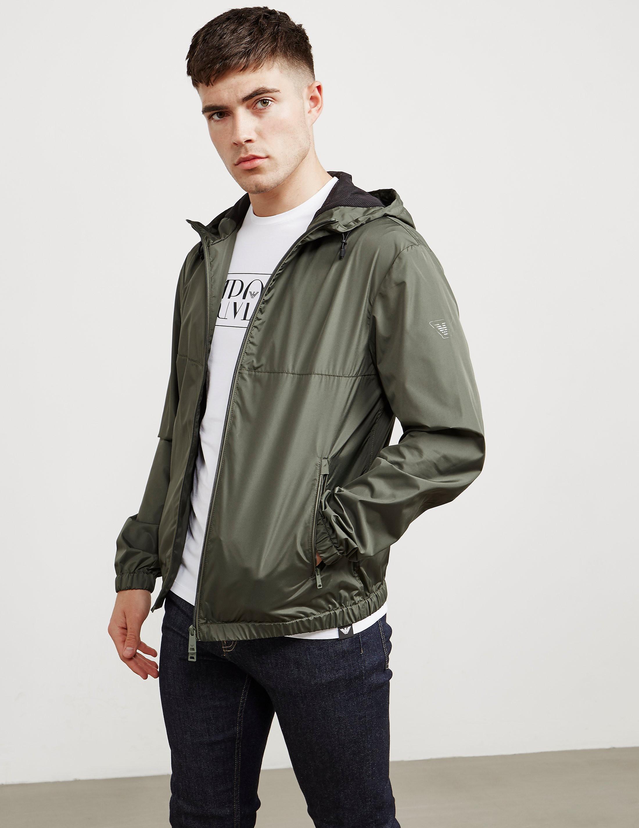 Emporio Armani Plain Hooded Jacket
