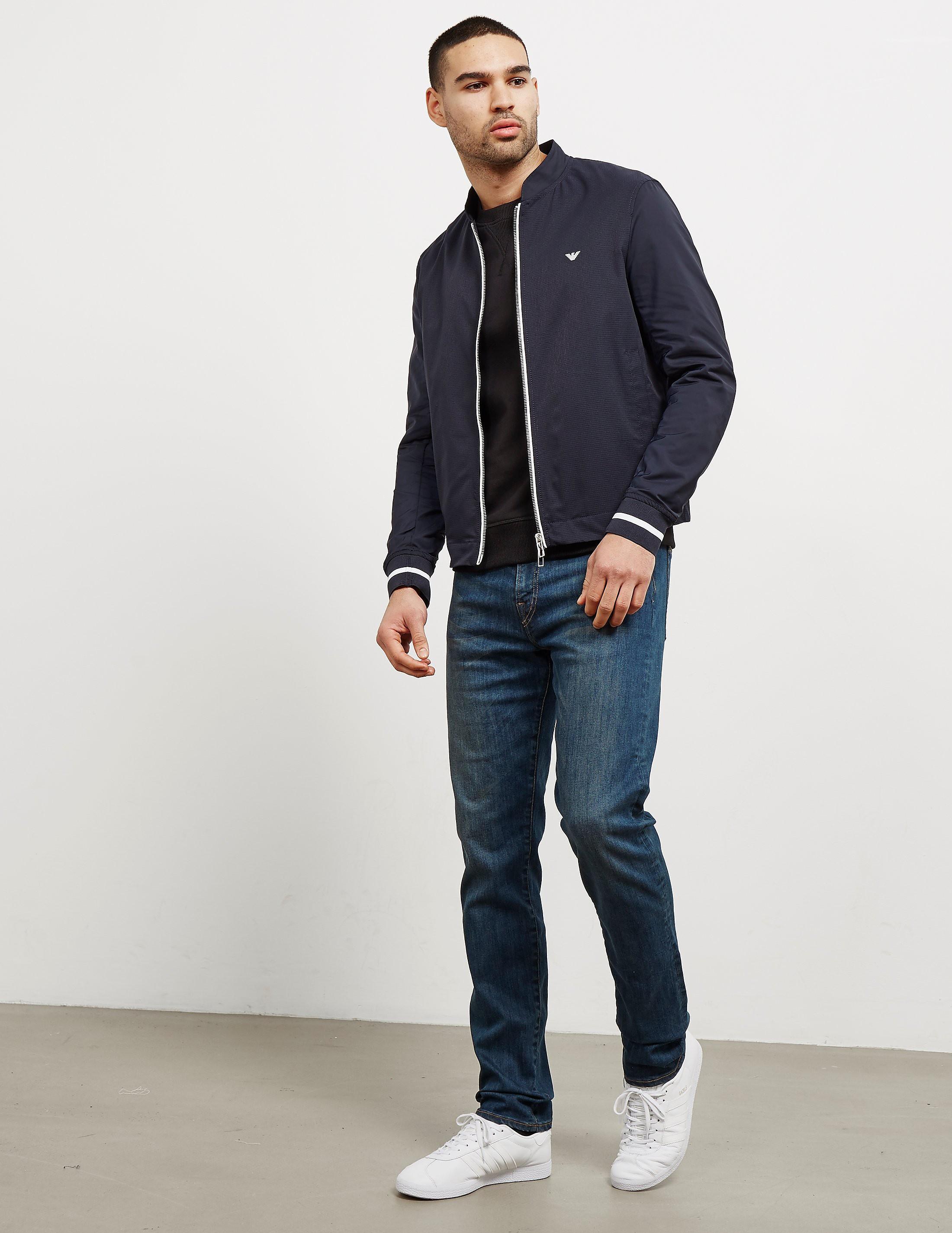 Emporio Armani Contrast Zip Bomber Jacket