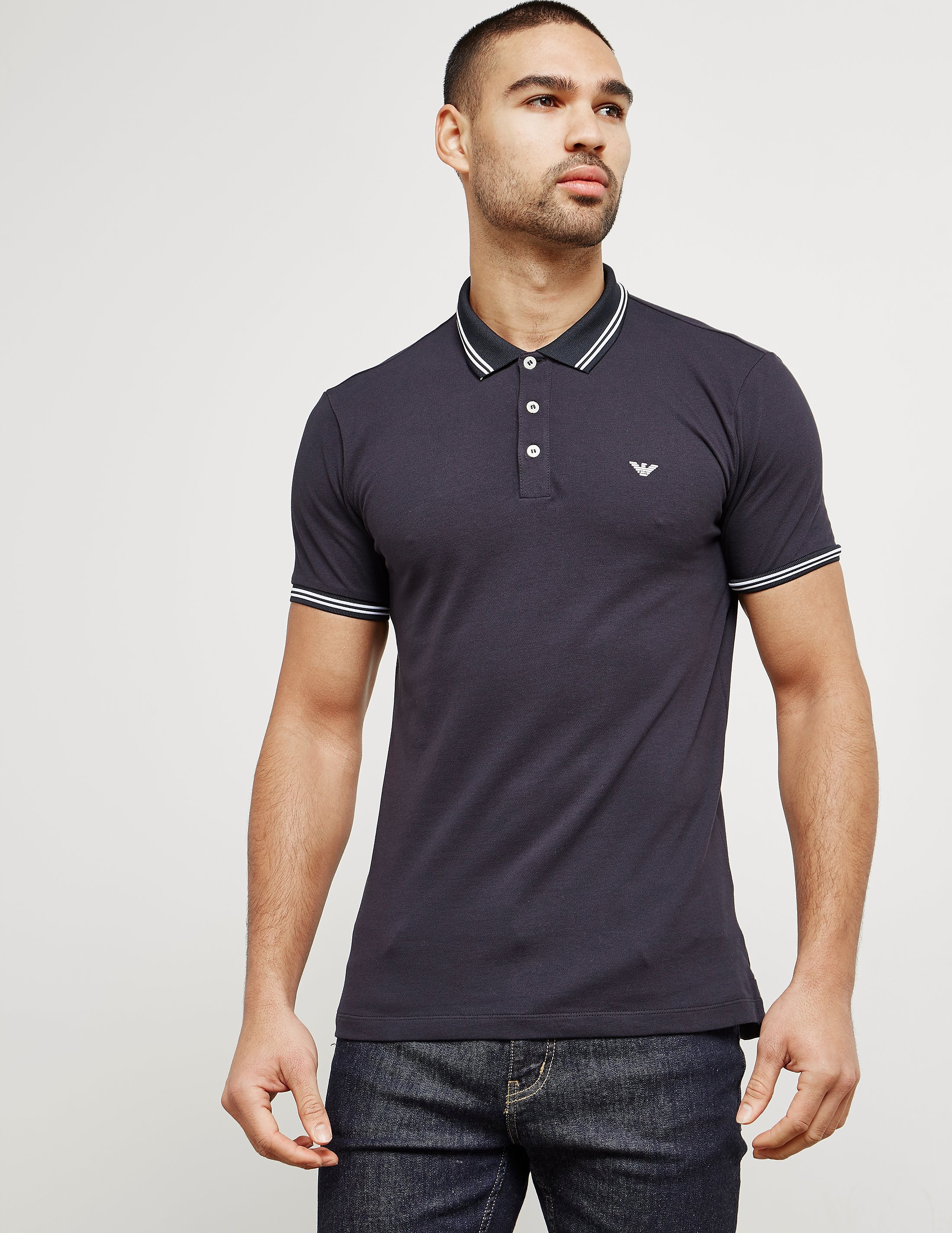 Emporio Armani Basic Tipped Short Sleeve Polo Shirt
