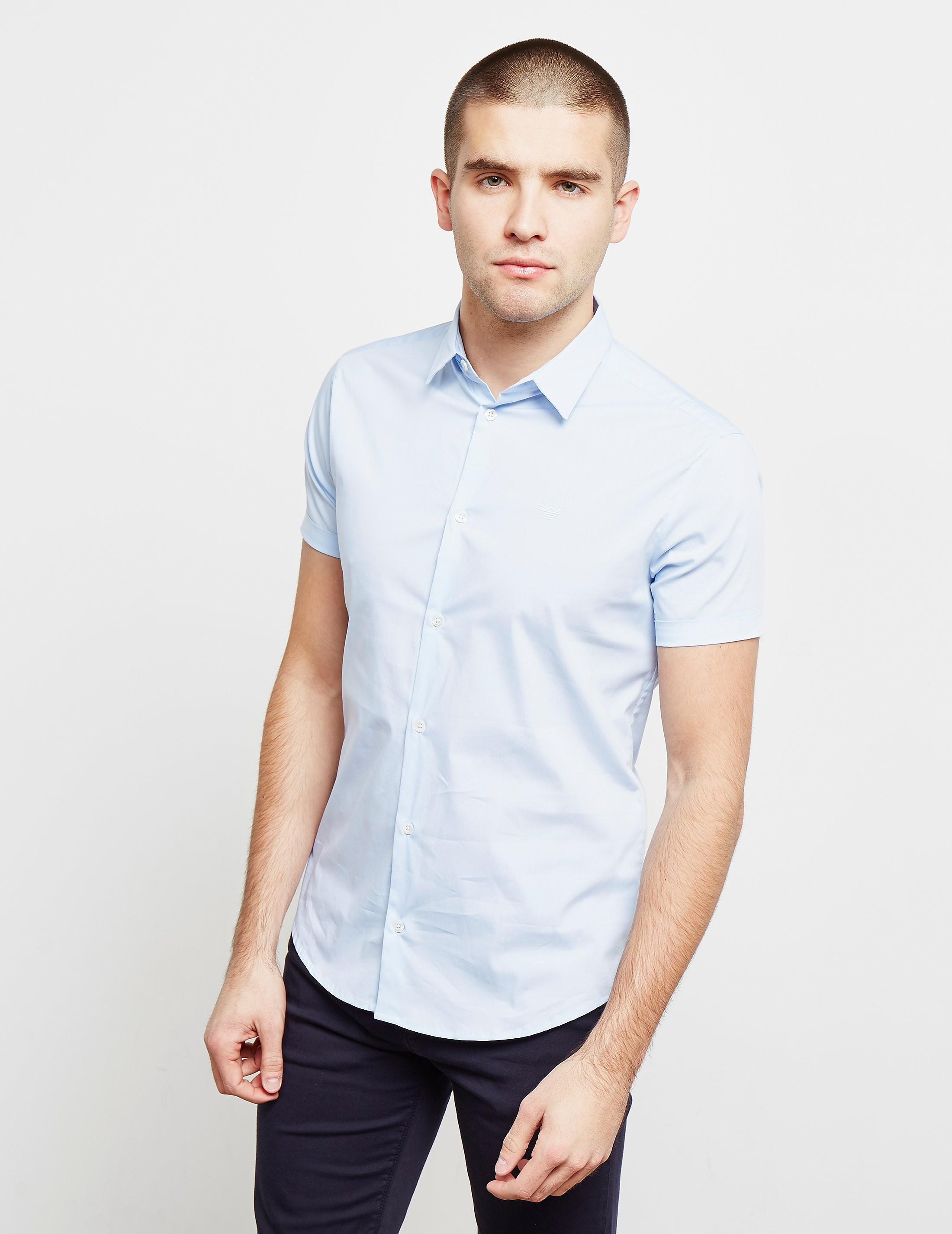 Emporio Armani Basic Poplin Short Sleeve Shirt