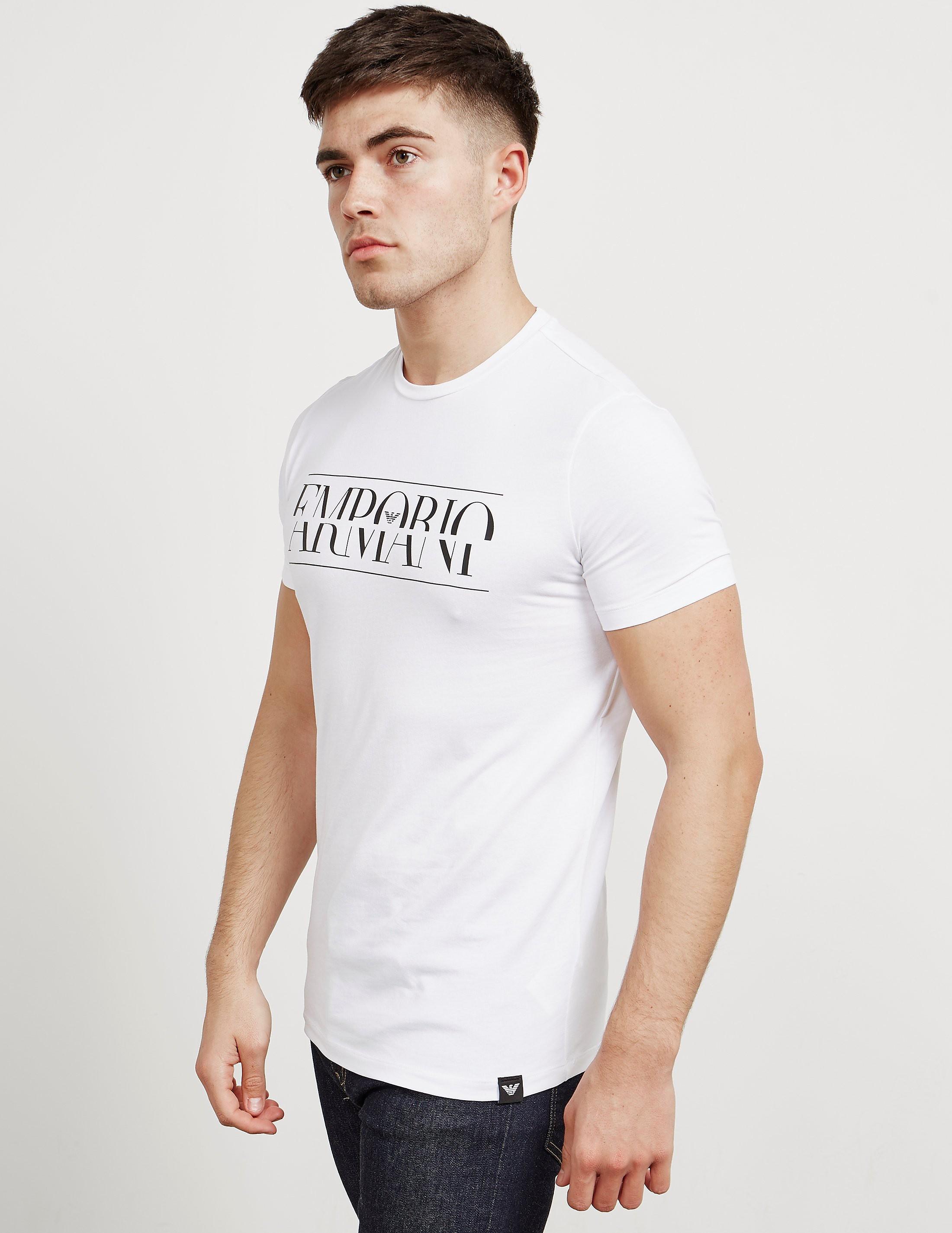 Emporio Armani Merged Logo Short Sleeve T-Shirt