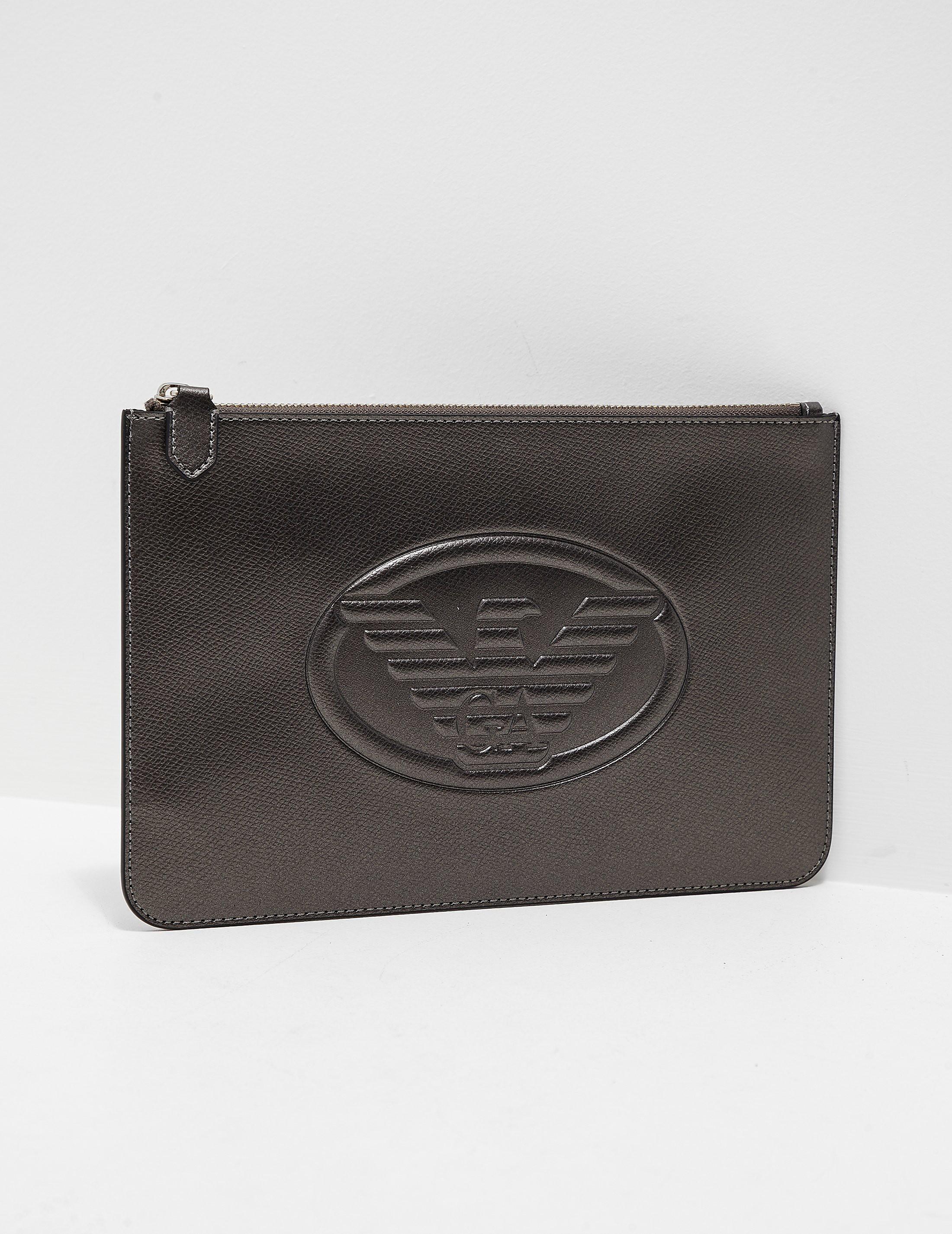 Emporio Armani Logo Clutch Bag