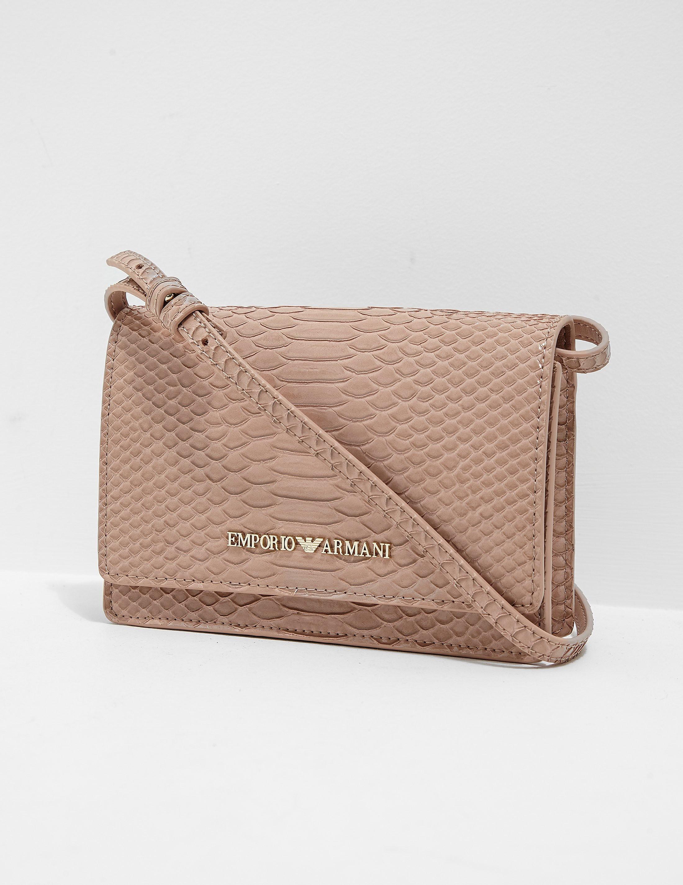 Emporio Armani Snakeskin Crossbody Bag