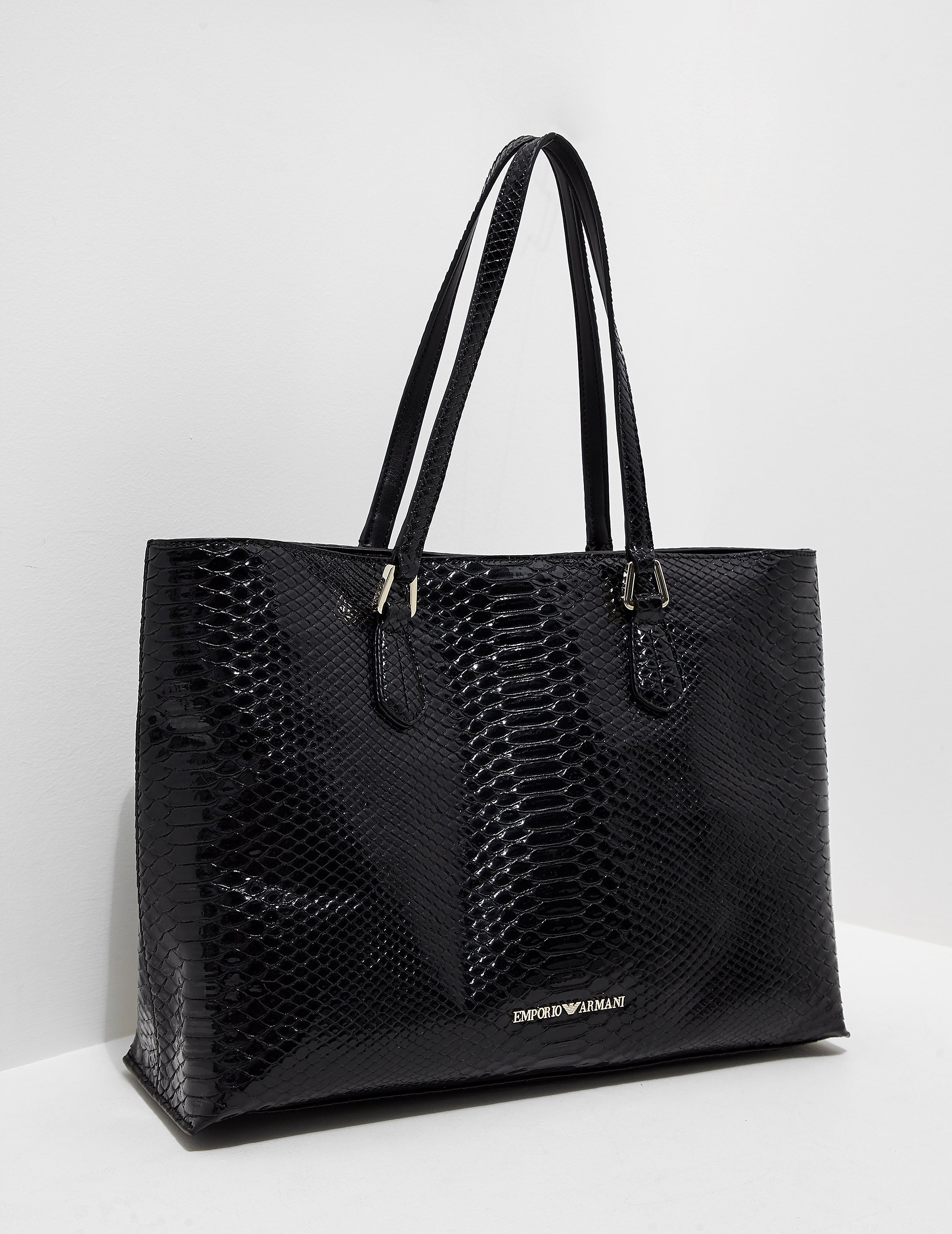 Emporio Armani Snakeskin Shopper Bag