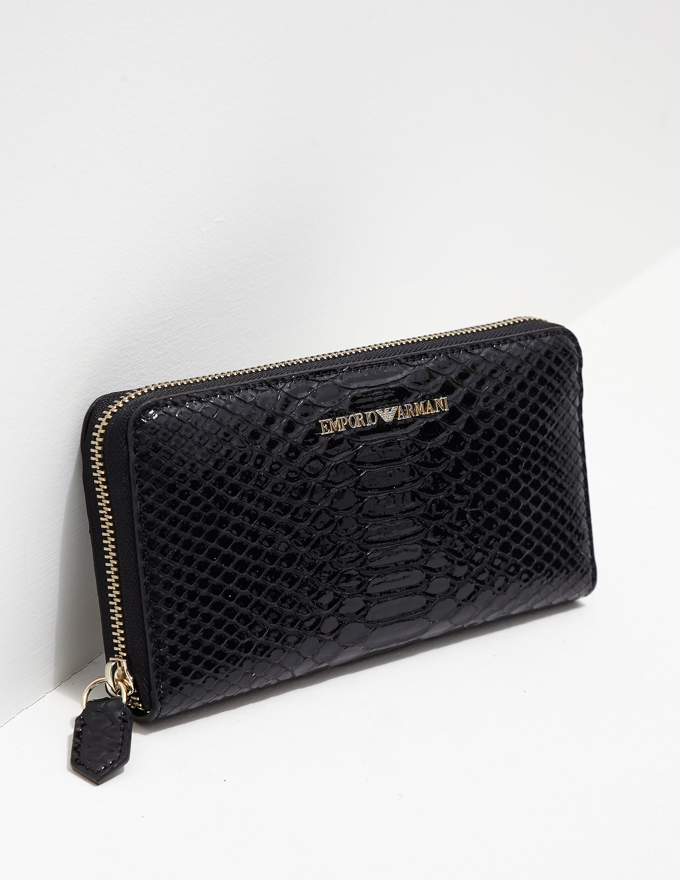Emporio Armani Zip Around Snake Purse