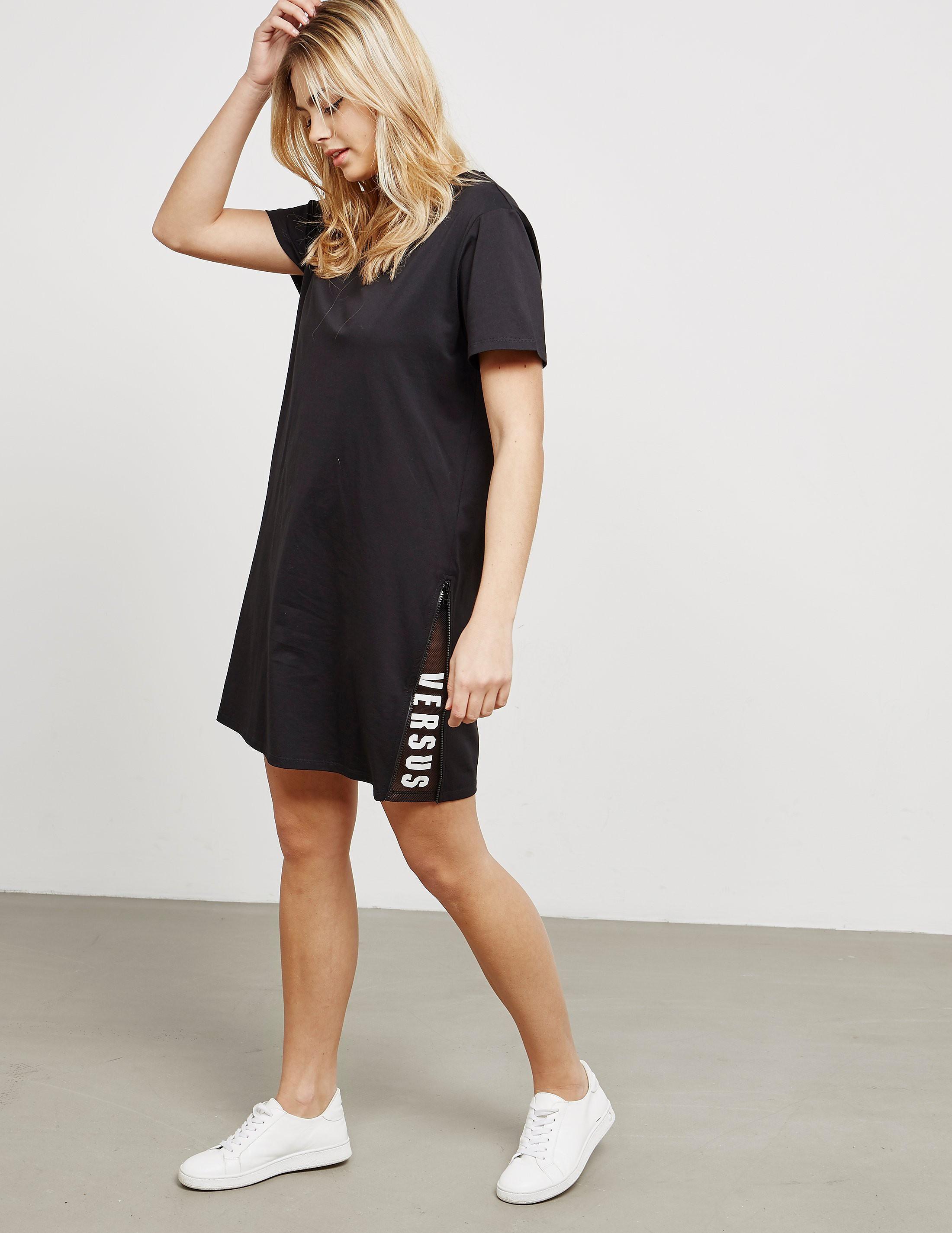Versus Versace Logo Short Sleeve Tee Dress