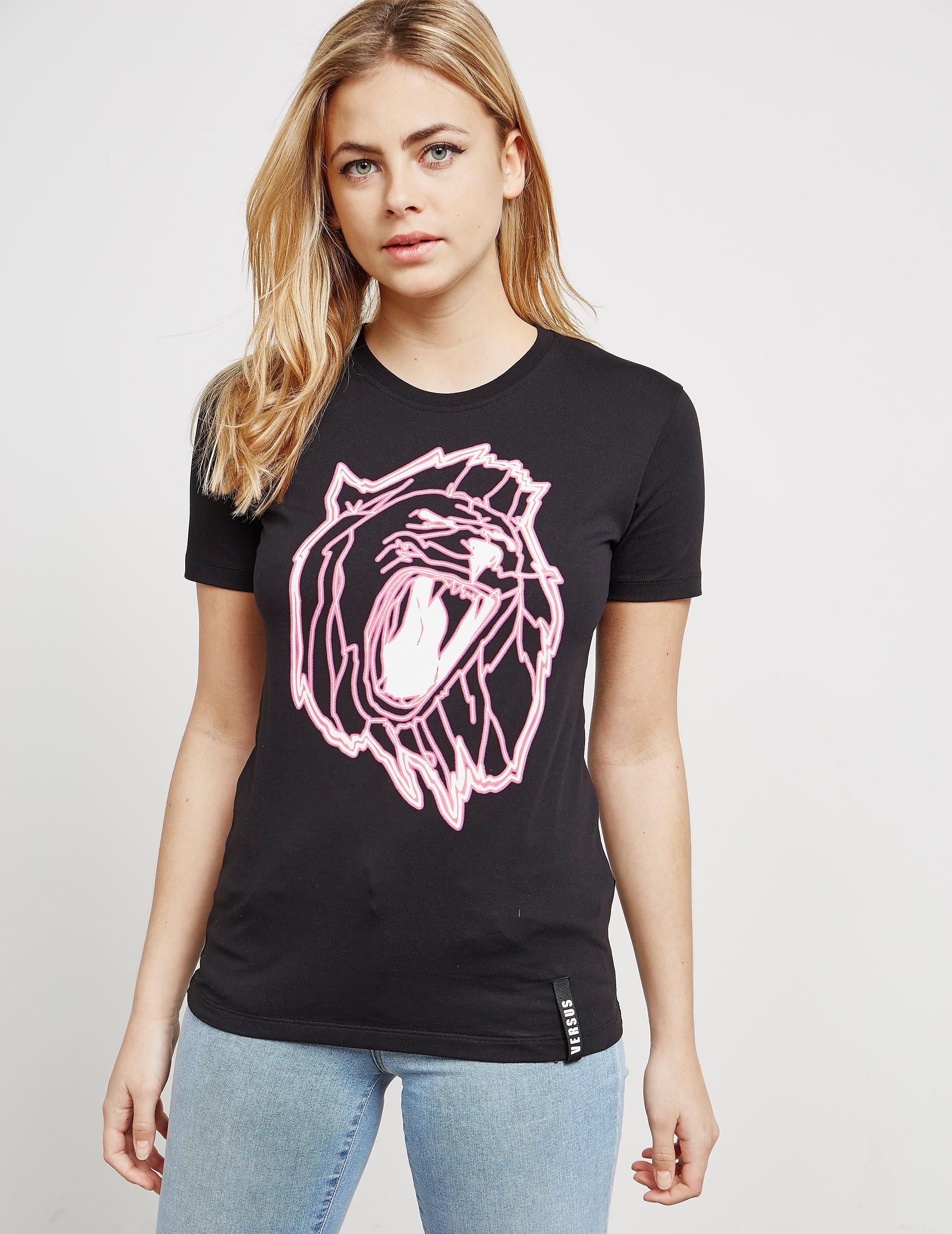 Versus Versace Lion Head Short Sleeve T-Shirt